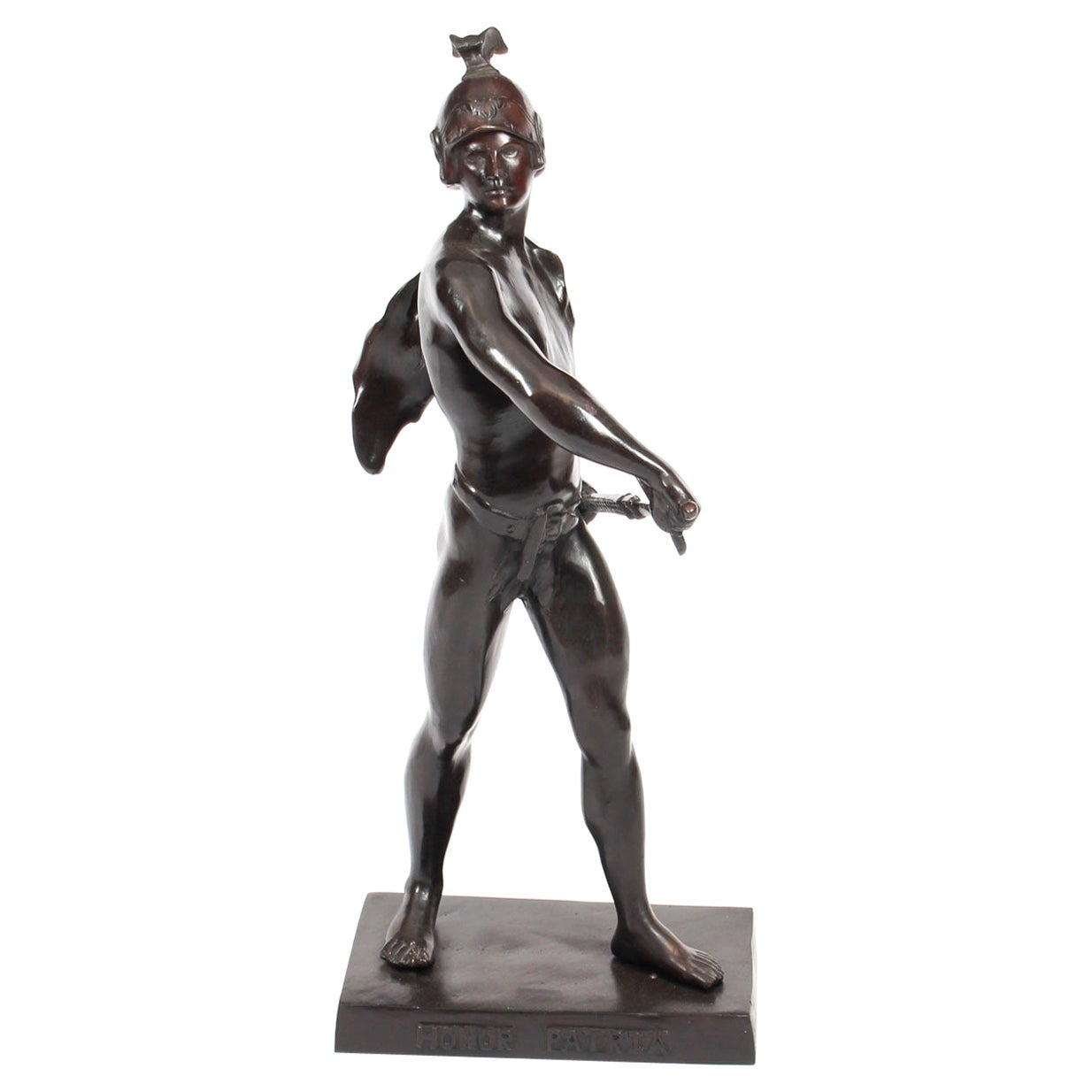 "Vintage Bronze Mythological Warrior ""Honor Patria"" after Picault 20th Century"