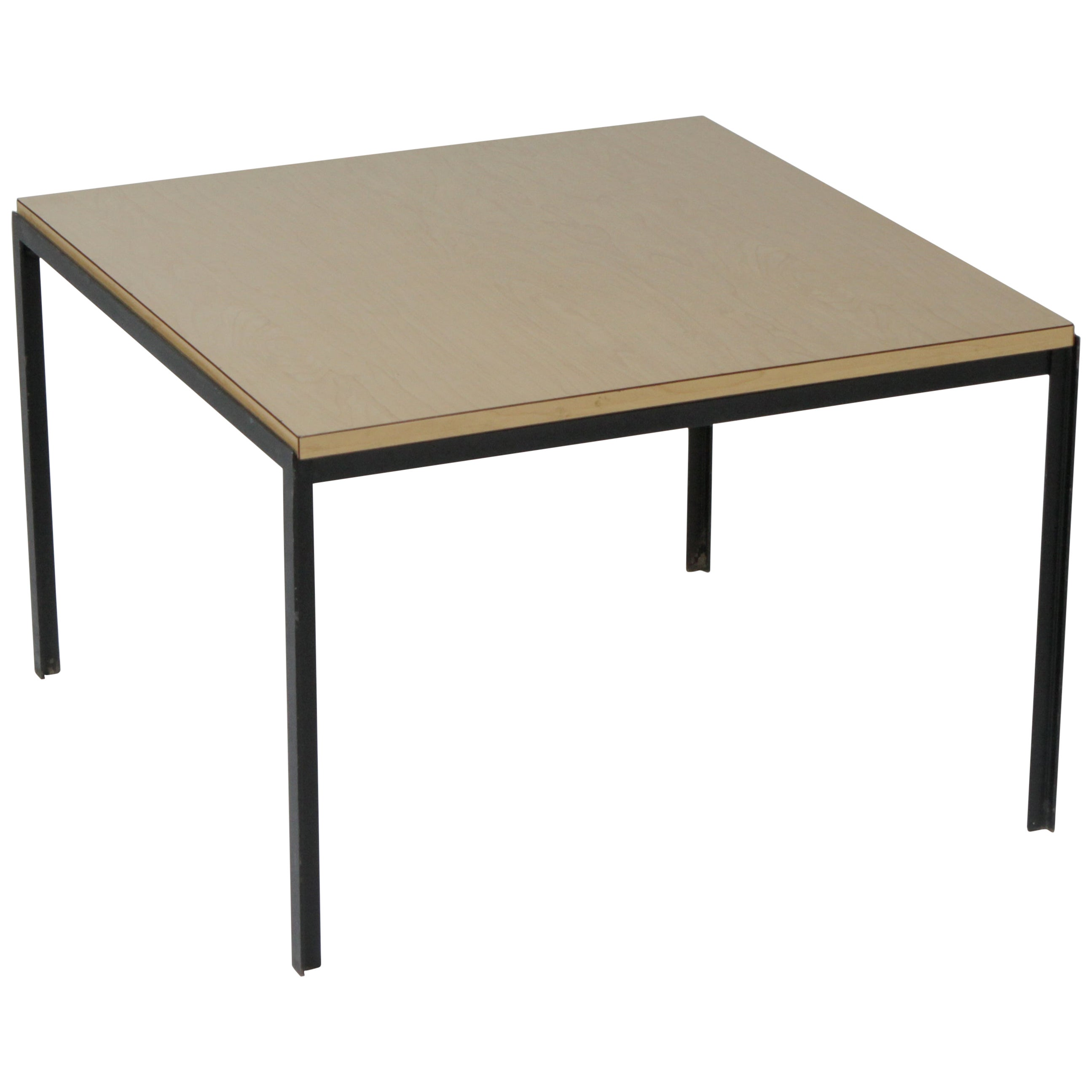 1950s Mid-Century Modern Florence Knoll T Angle Table with a Birch Laminate Top