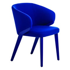 Nora Blue Armchair, Designed by Michael Schmidt, Made in Italy