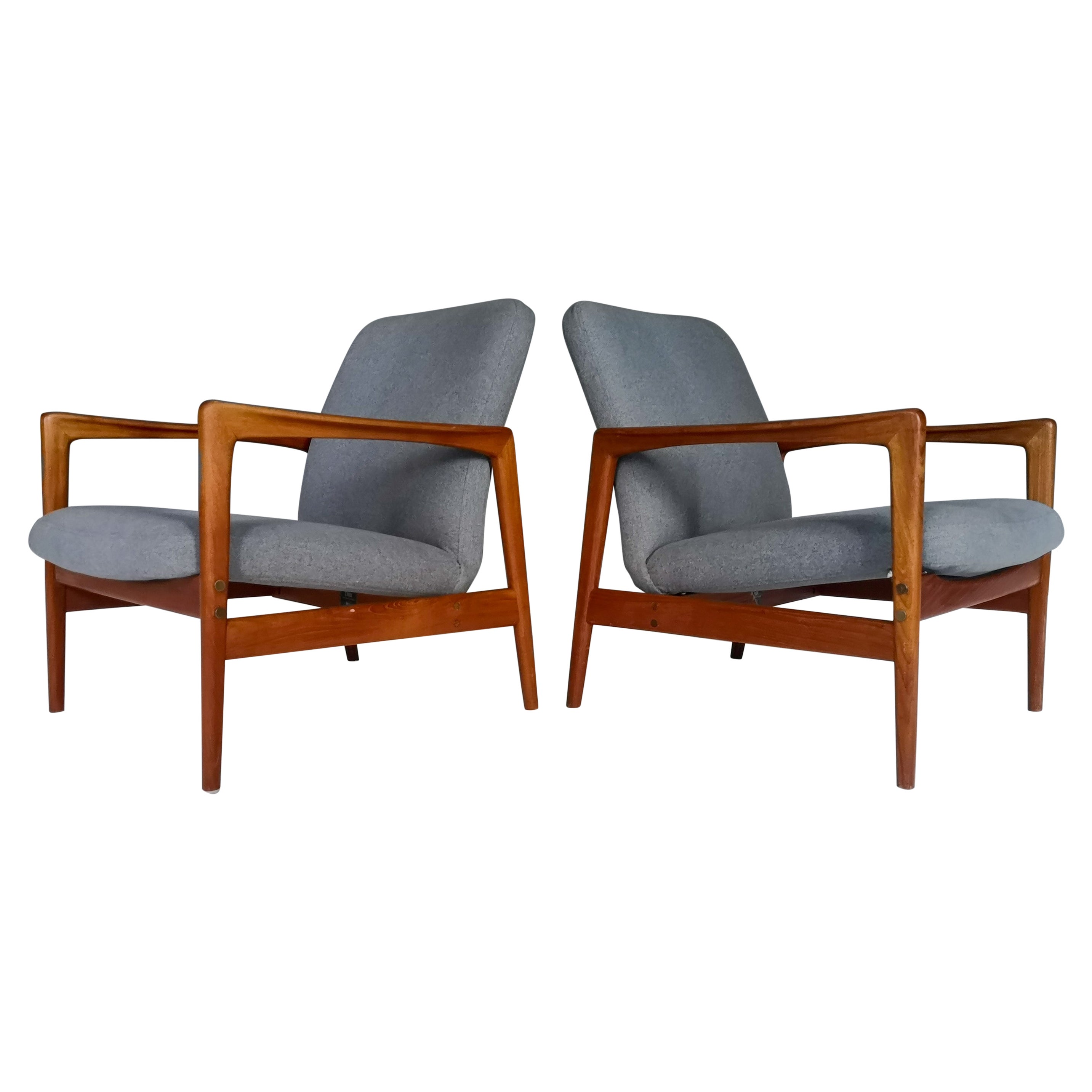 Pair of Easy Chairs DUX Alf Svensson, Sweden, 1960s