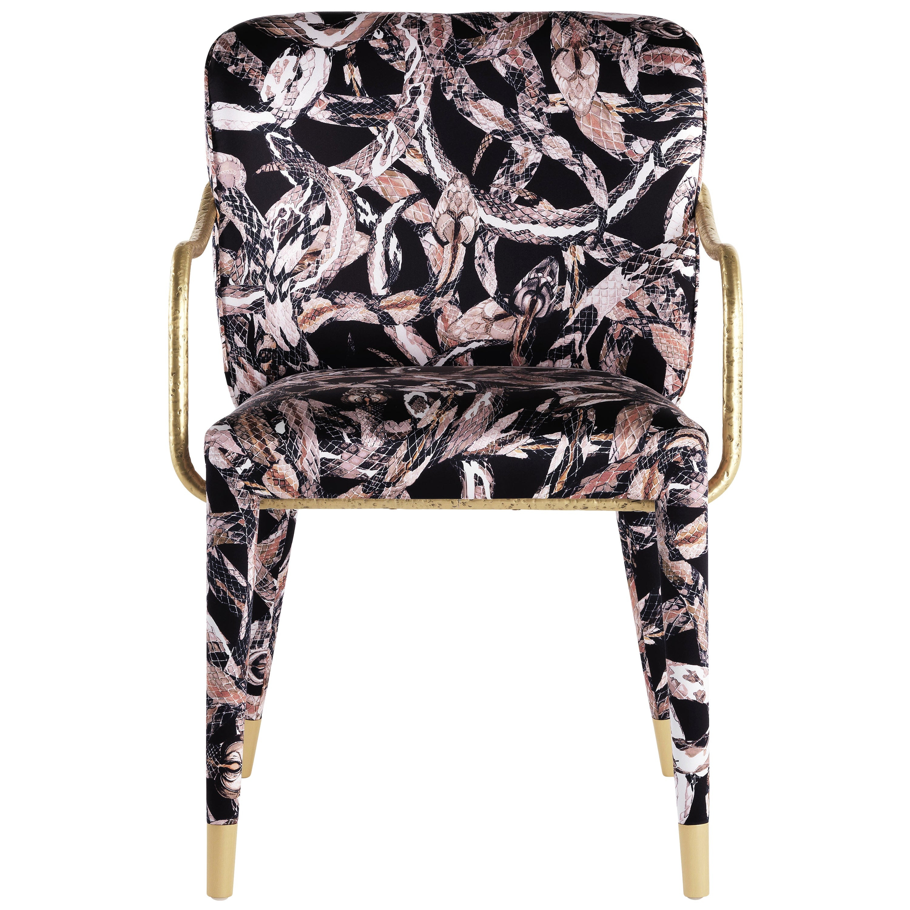 Kivu Armchair in Fabric and Metal by Roberto Cavalli Home Interiors