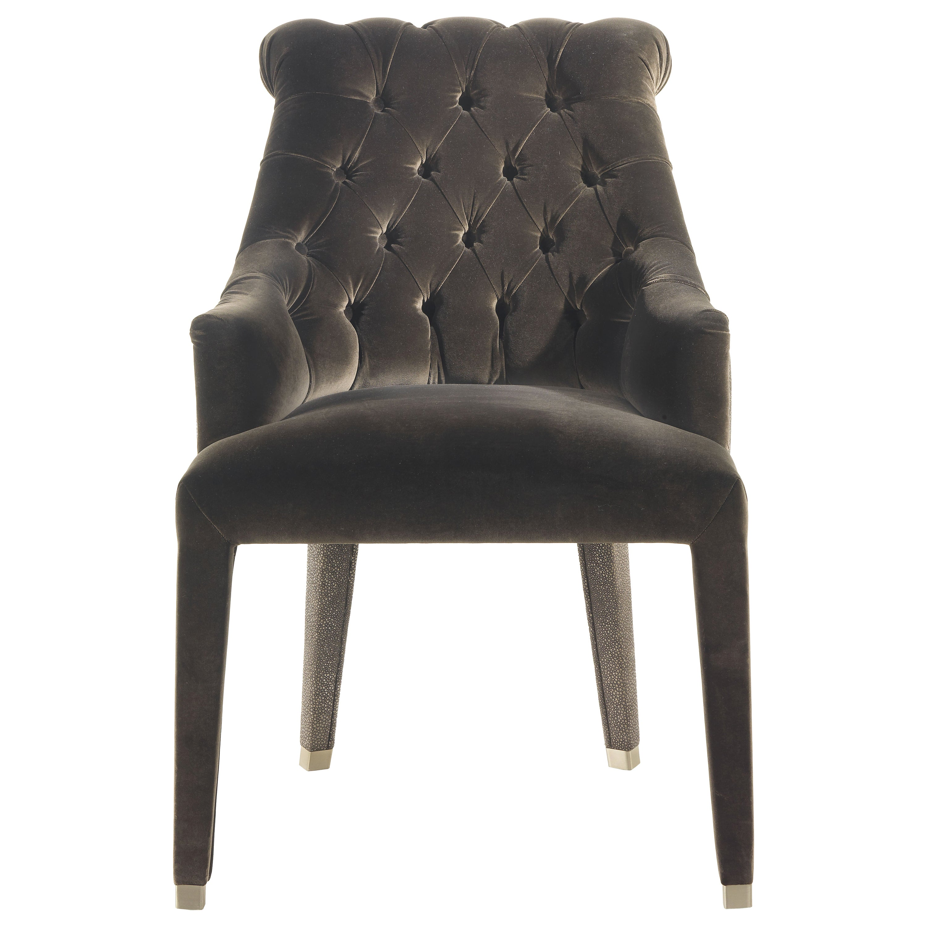 Lady E Armchair in Fabric and Leather by Roberto Cavalli Home Interiors