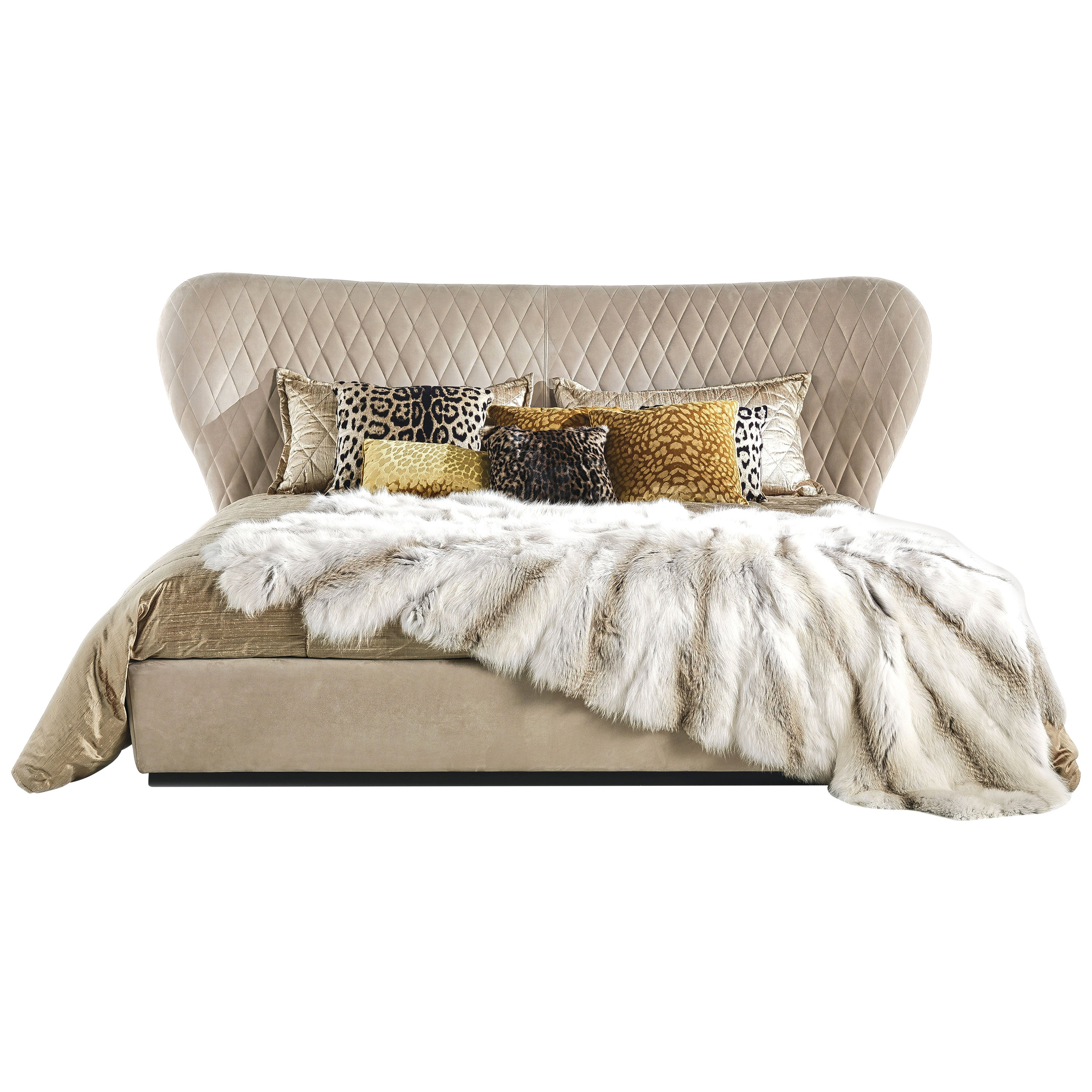 Grace Bed in Leather by Roberto Cavalli Home Interiors