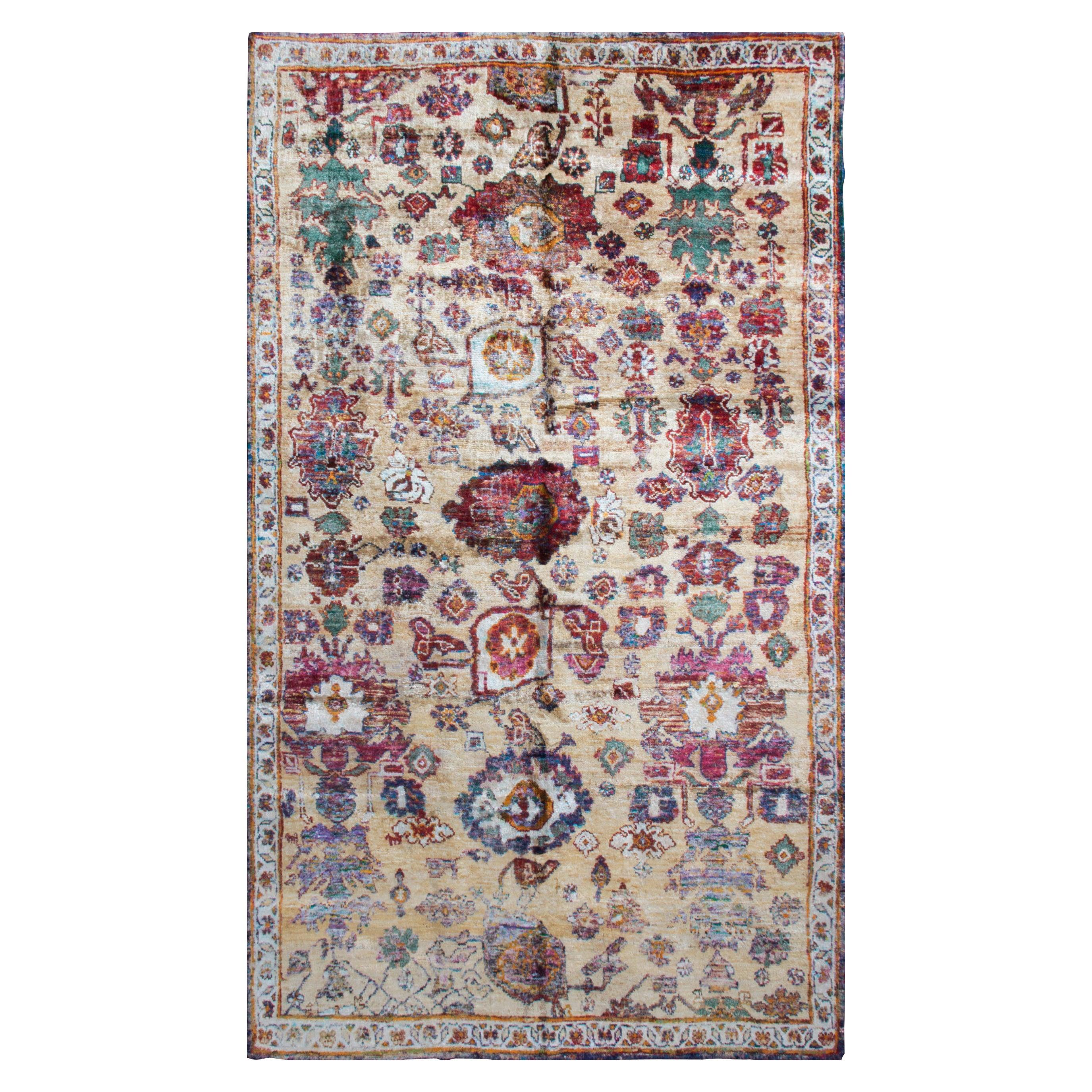 Rug & Kilim's Agra Inspired Multi-Color Wool and Silk Rug