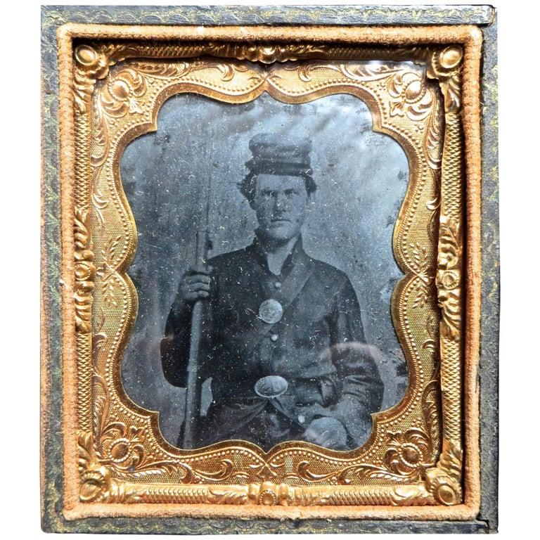"Civil War ""Tintype"" Portrait of a Union Soldier, American, circa 1861"