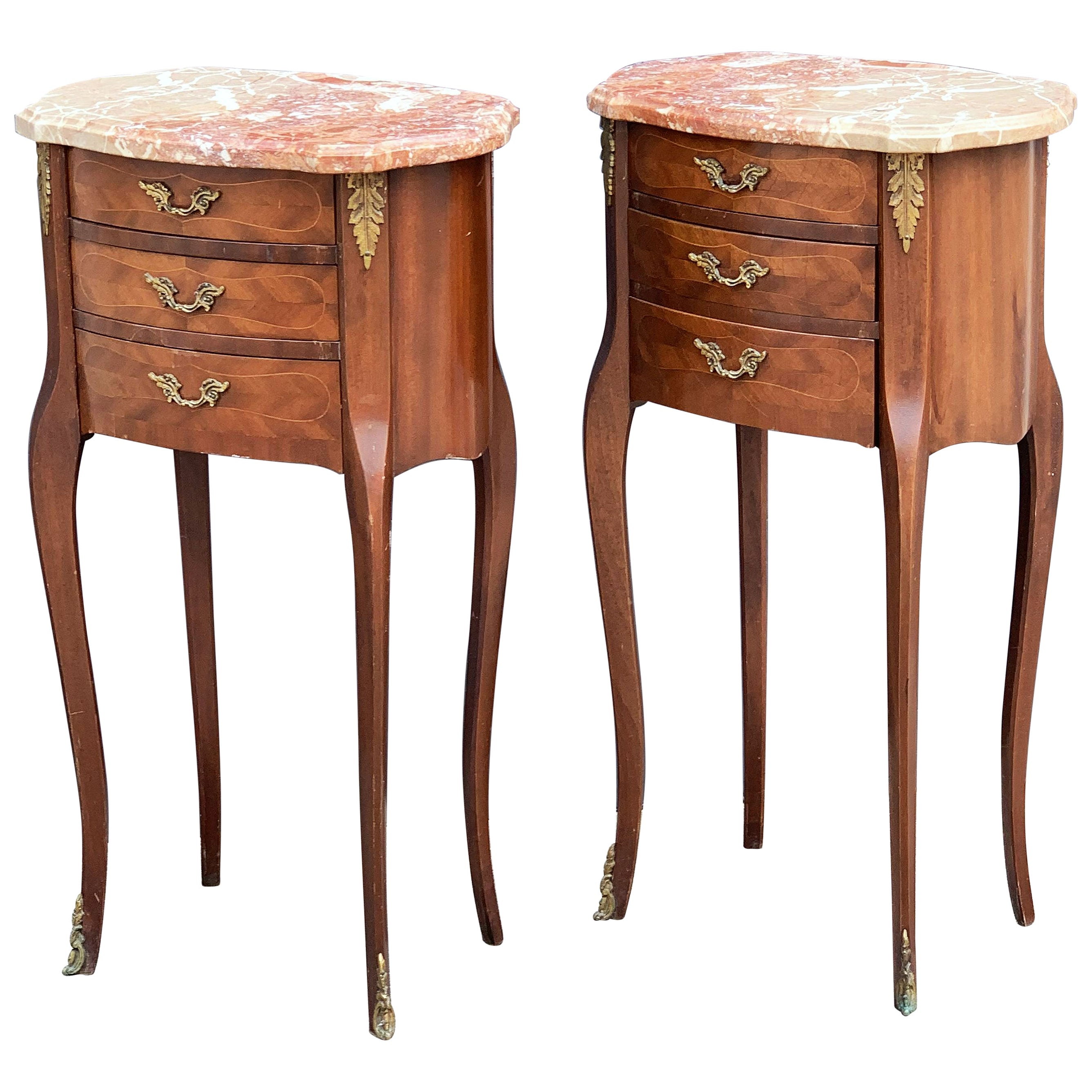 French Inlaid Nightstands or Bedside Tables - 'Individually Priced'