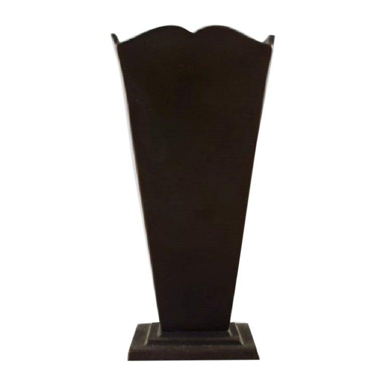 GAB 'Guldsmedsaktiebolaget', Art Deco Vase in Bronze, 1930s-1940s