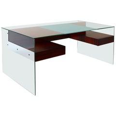 Antoine Philippon and Jacqueline Lecoq, 'Desk,' Glass, Rosewood, Aluminum, 1960