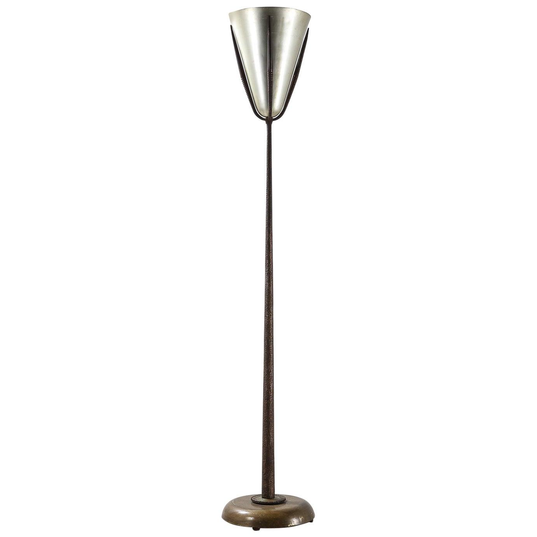Italian 1970s Luminator Floor Lamp, Bronze and Aluminium Fusion