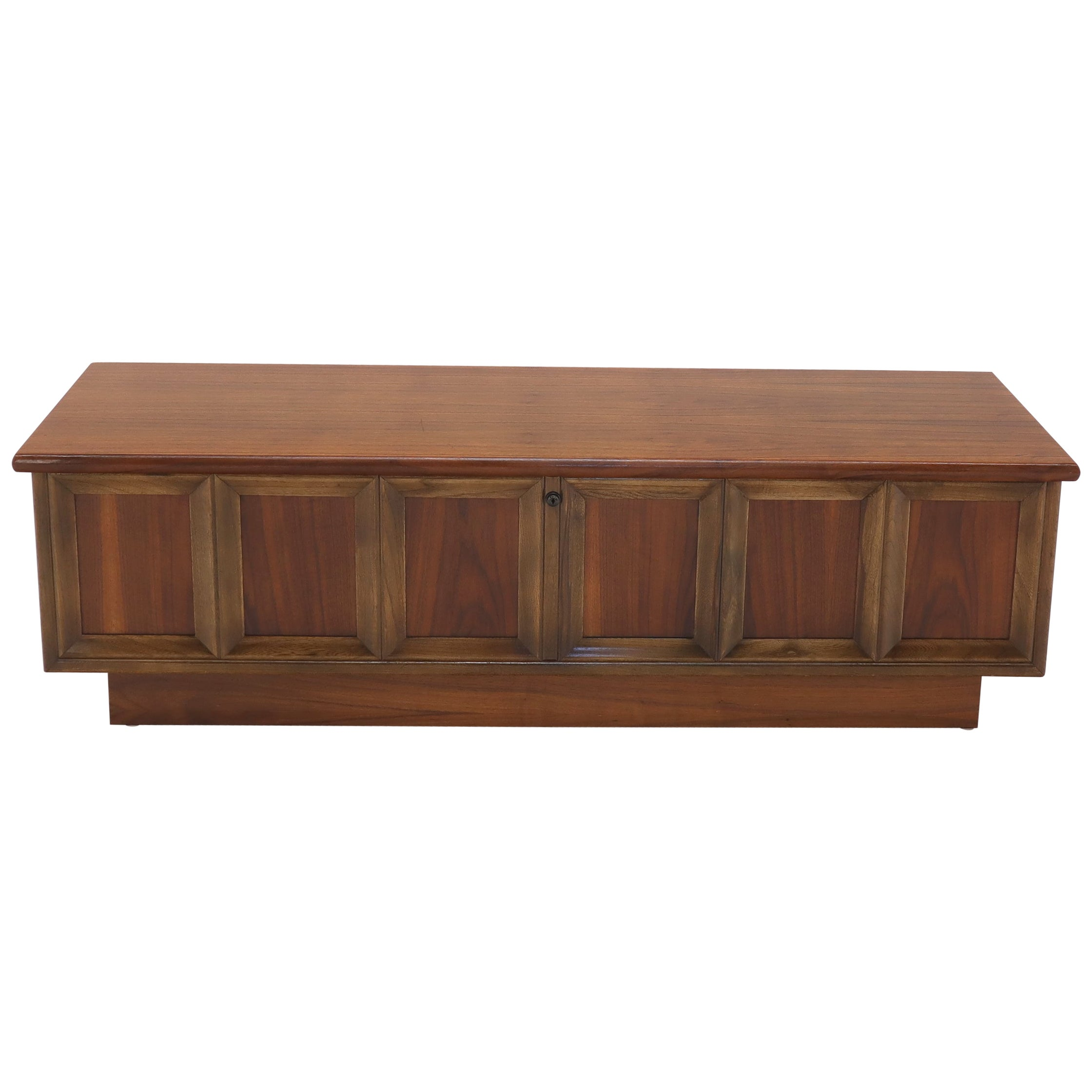 Walnut Cedar Lined Mid-Century Modern Hope Chest by Lane