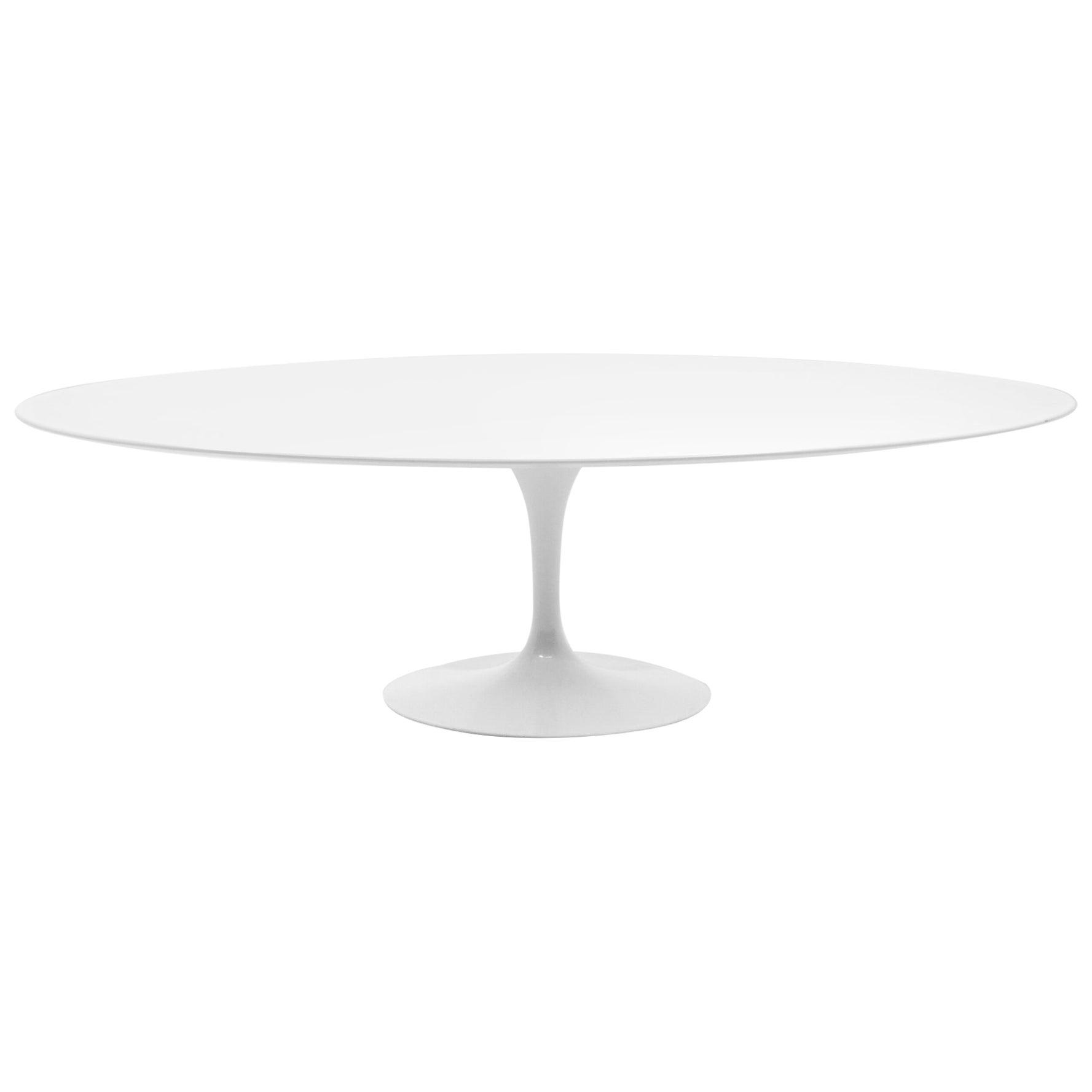 Eero Saarinen Oval Tulip Base Dining Table, White Laminate Top