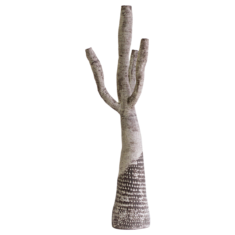 Large Contemporary Ceramic Tree Sculpture, Arbre Motifs