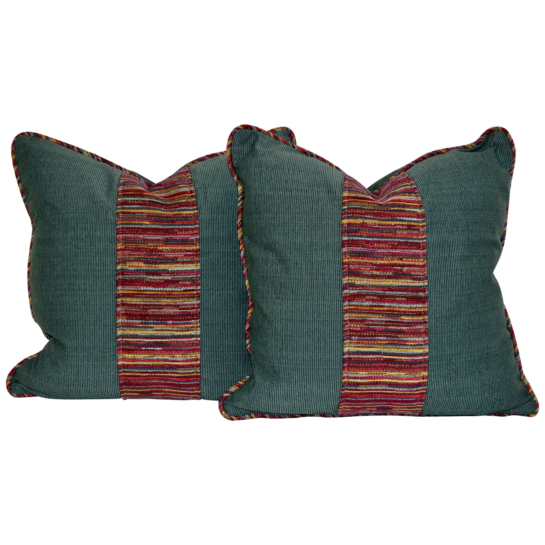 Handmade Faille and Woven Pillows