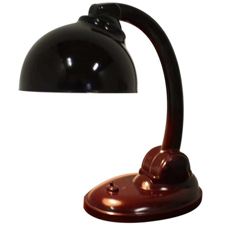 Bakelite Table Lamp by Eric Kirkman Cole, 1930s