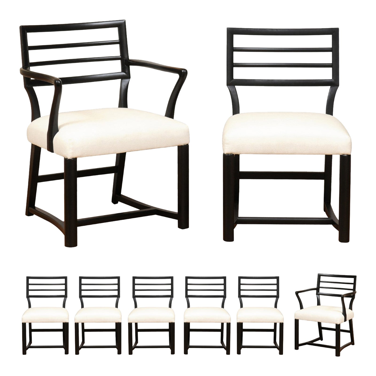 Spectacular Restored Set of 8 Modern Dining Chairs by Michael Taylor, circa 1957