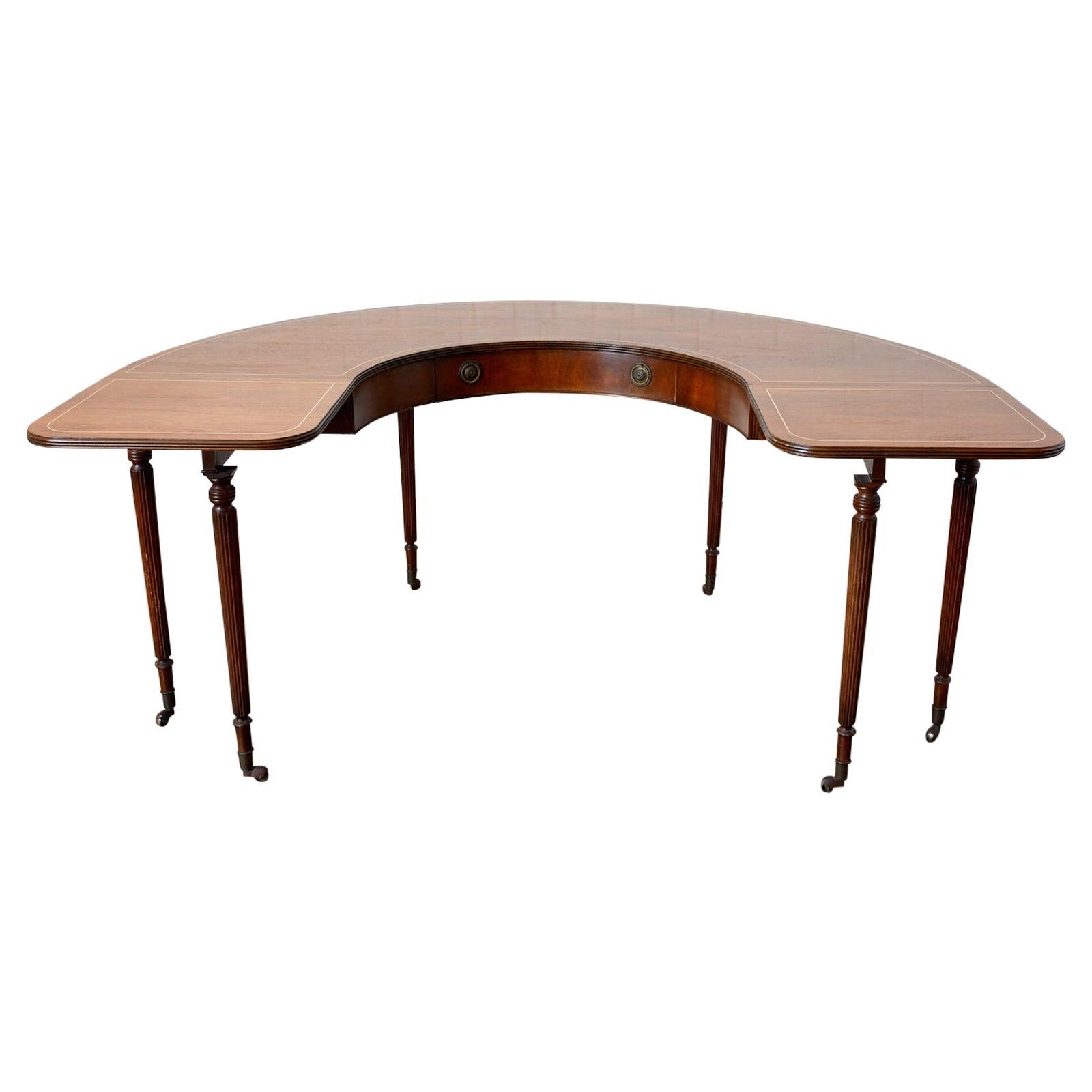 English Regency Style Drop-Leaf Hunt Table or Desk