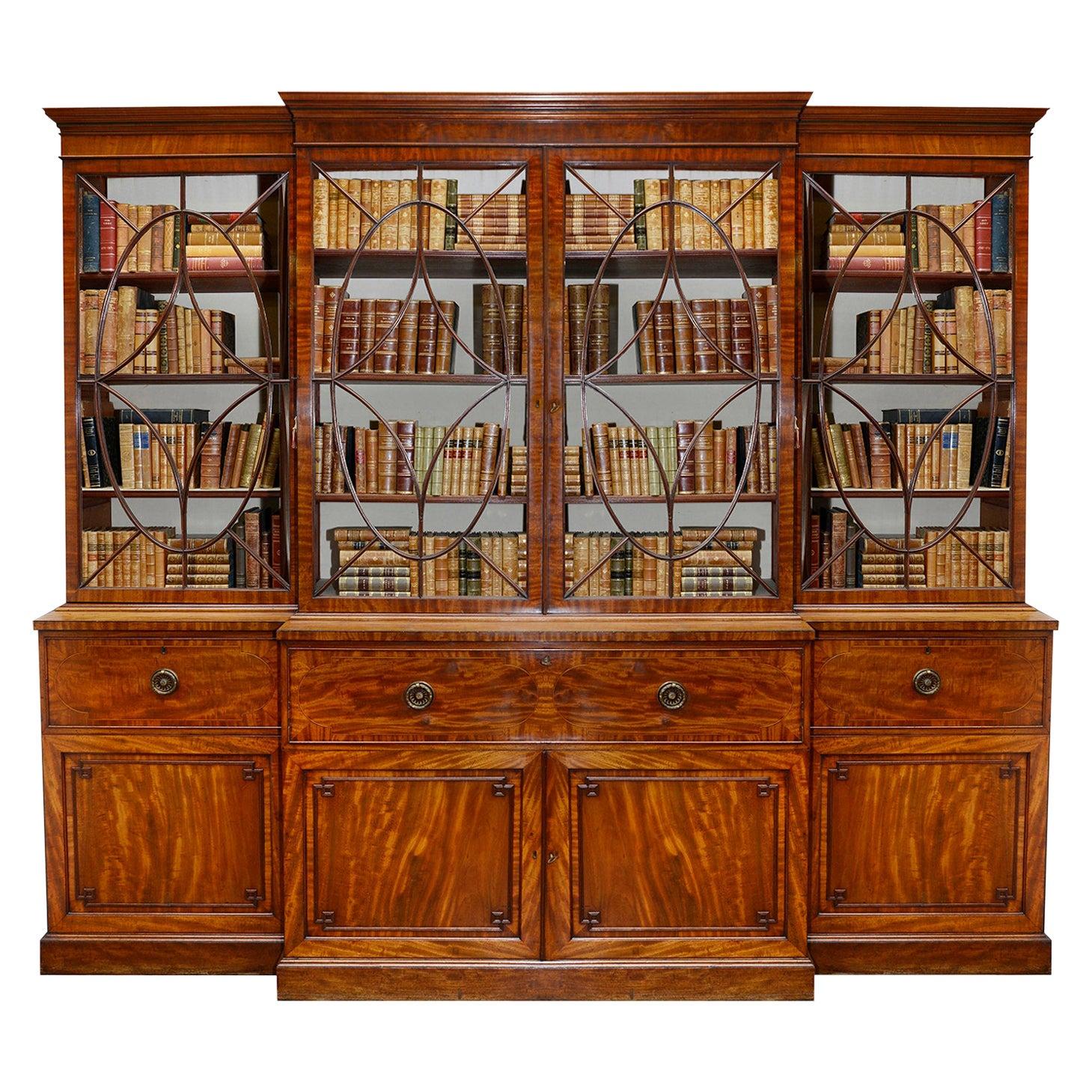 Regency Period Mahogany Library bookcase, circa 1820