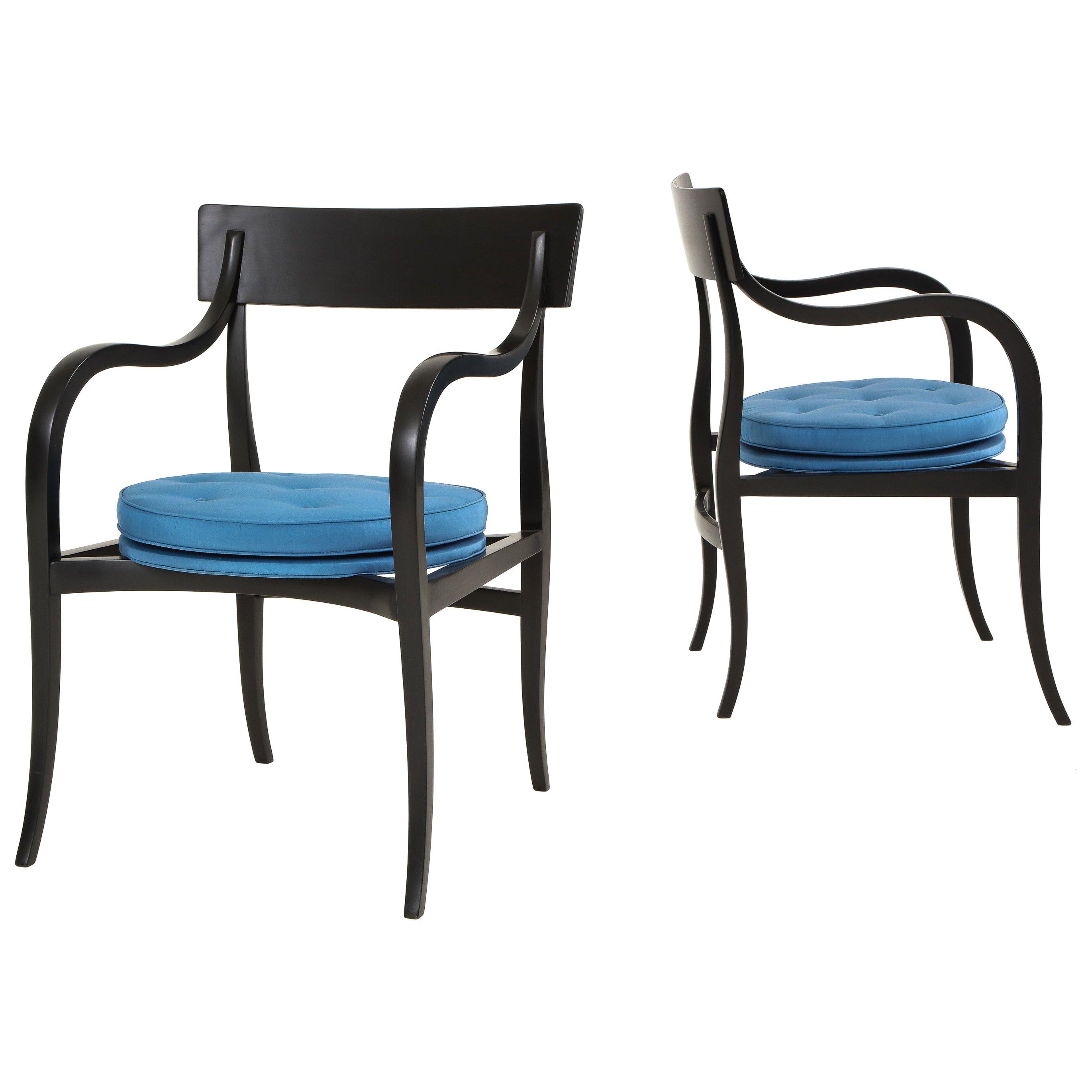 "Pair of Edward Wormley ""Alexandria"" Chairs for Dunbar"