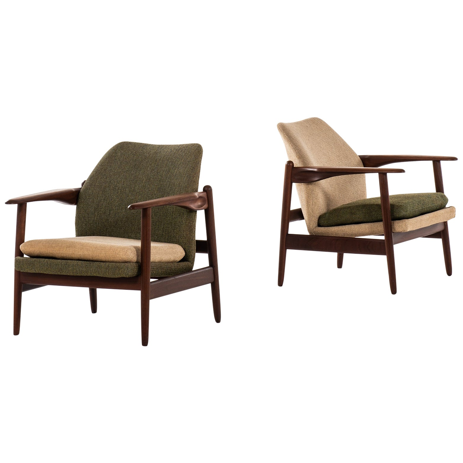 Pair of Easy Chairs Produced in Denmark