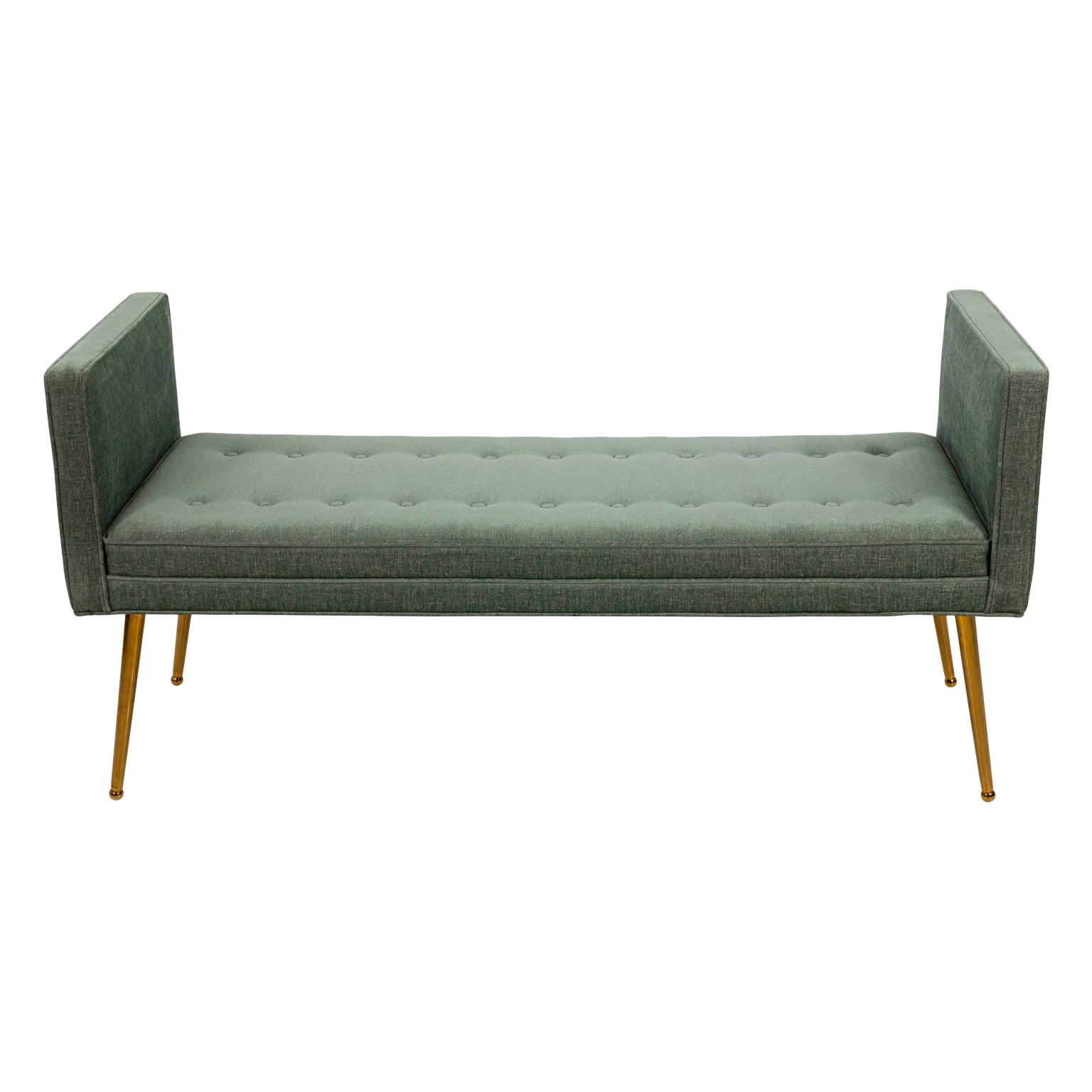 Midcentury Style Upholstered Bench