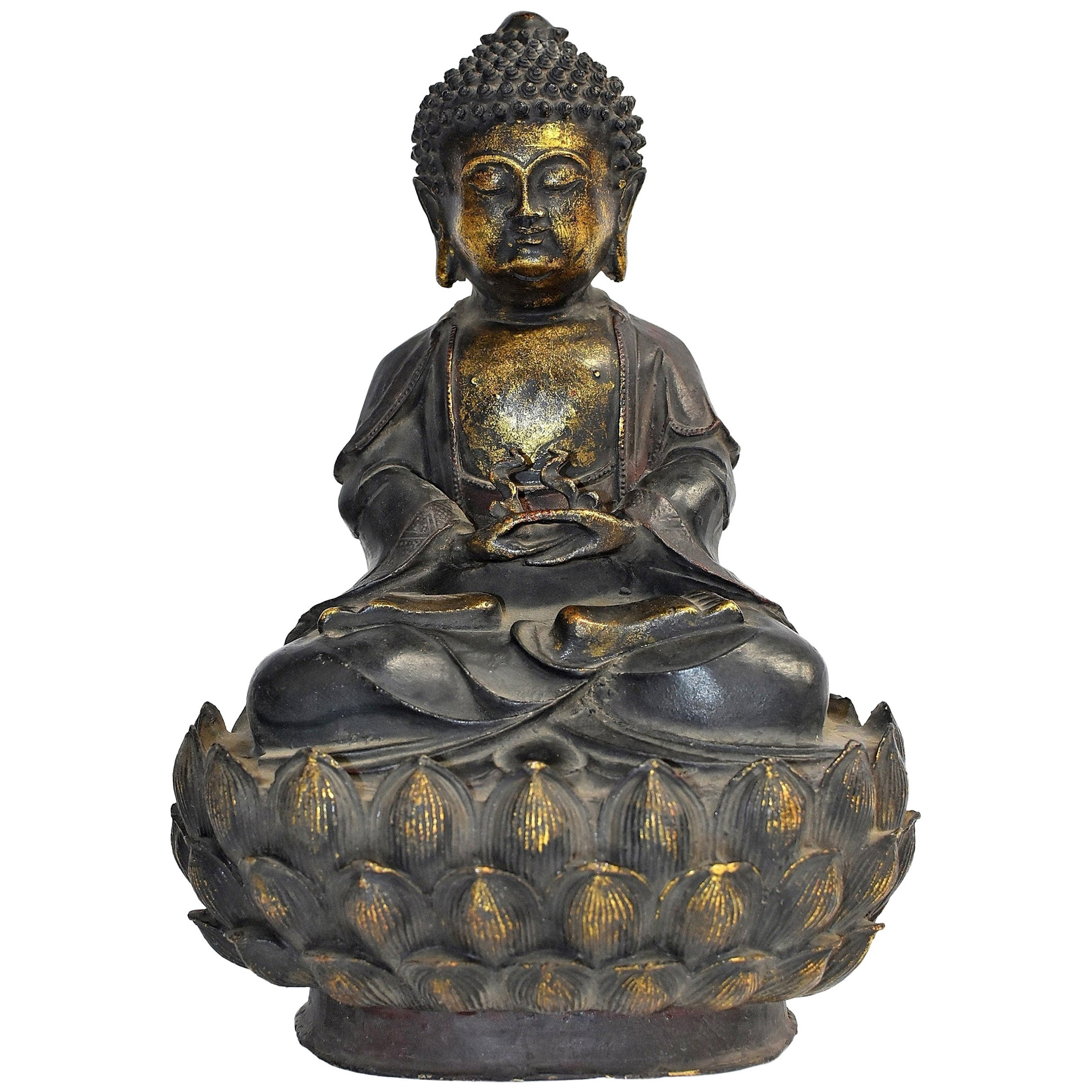 Bronze Buddha on Lotus Throne