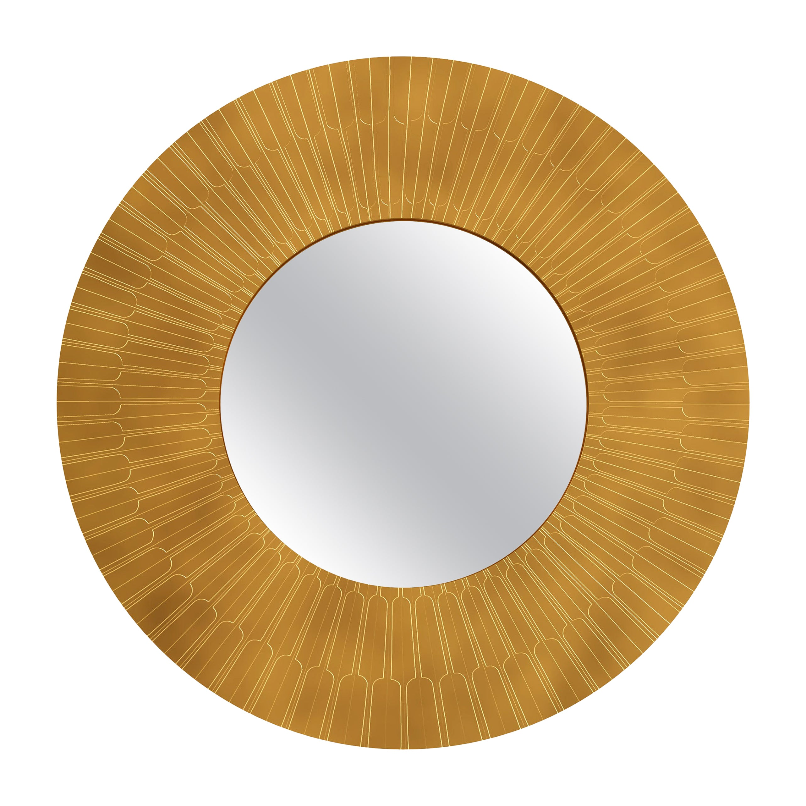 Citylights Wall Console Mirror in Brass by Matteo Cibic