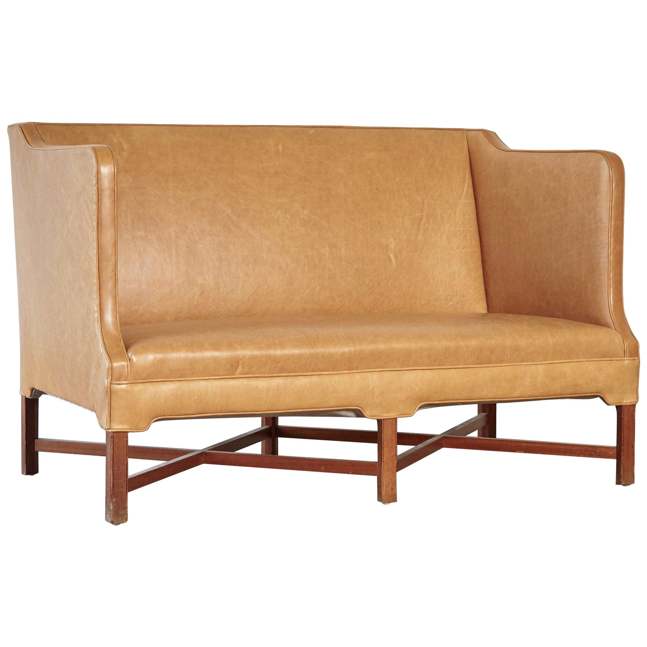 Kaare Klint Model 4118 Box Sofa, Rud Rasmussen, Denmark, 1950s