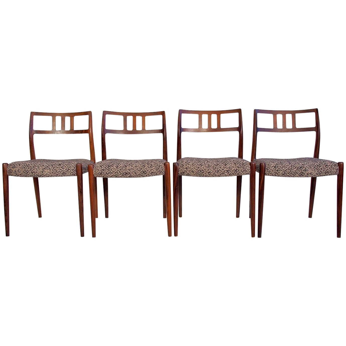 Set of Four Model 79 Chairs by Niels Otto Moller