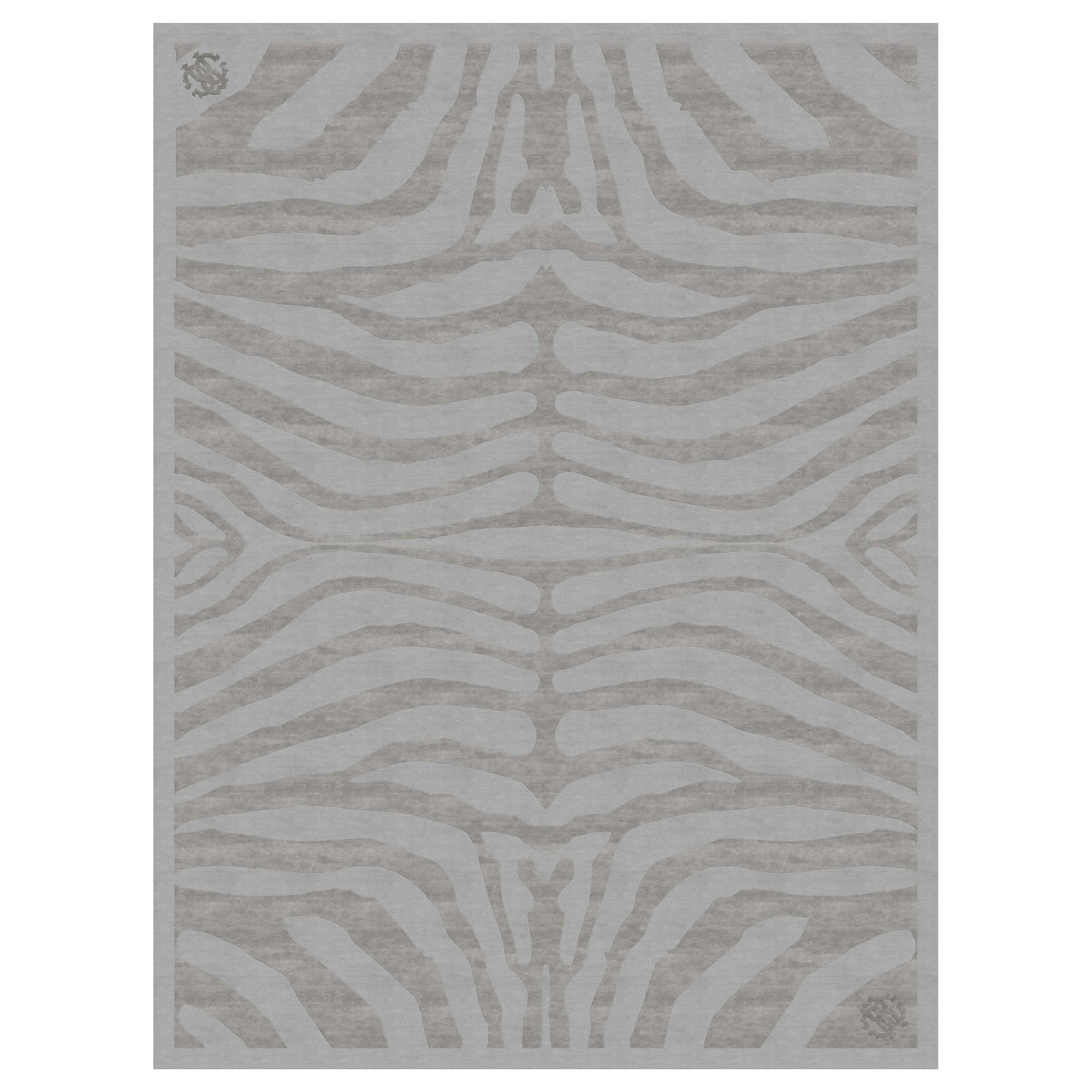 Cameron Hand Knotted Rug in Wool and Viscose by Roberto Cavalli Home Interiors
