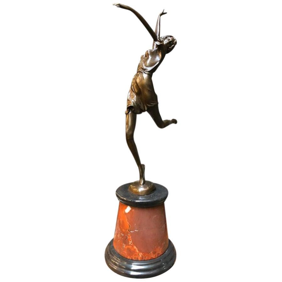 Art Deco Style Bronze Dancer by Bruno Zach, 20th Century