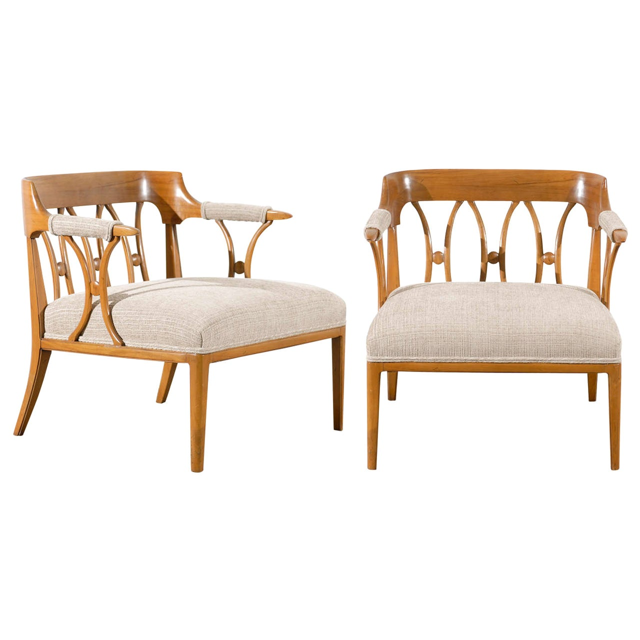Modern Neoclassical Loungers by Lubberts and Mulder for Tomlinson, circa 1958