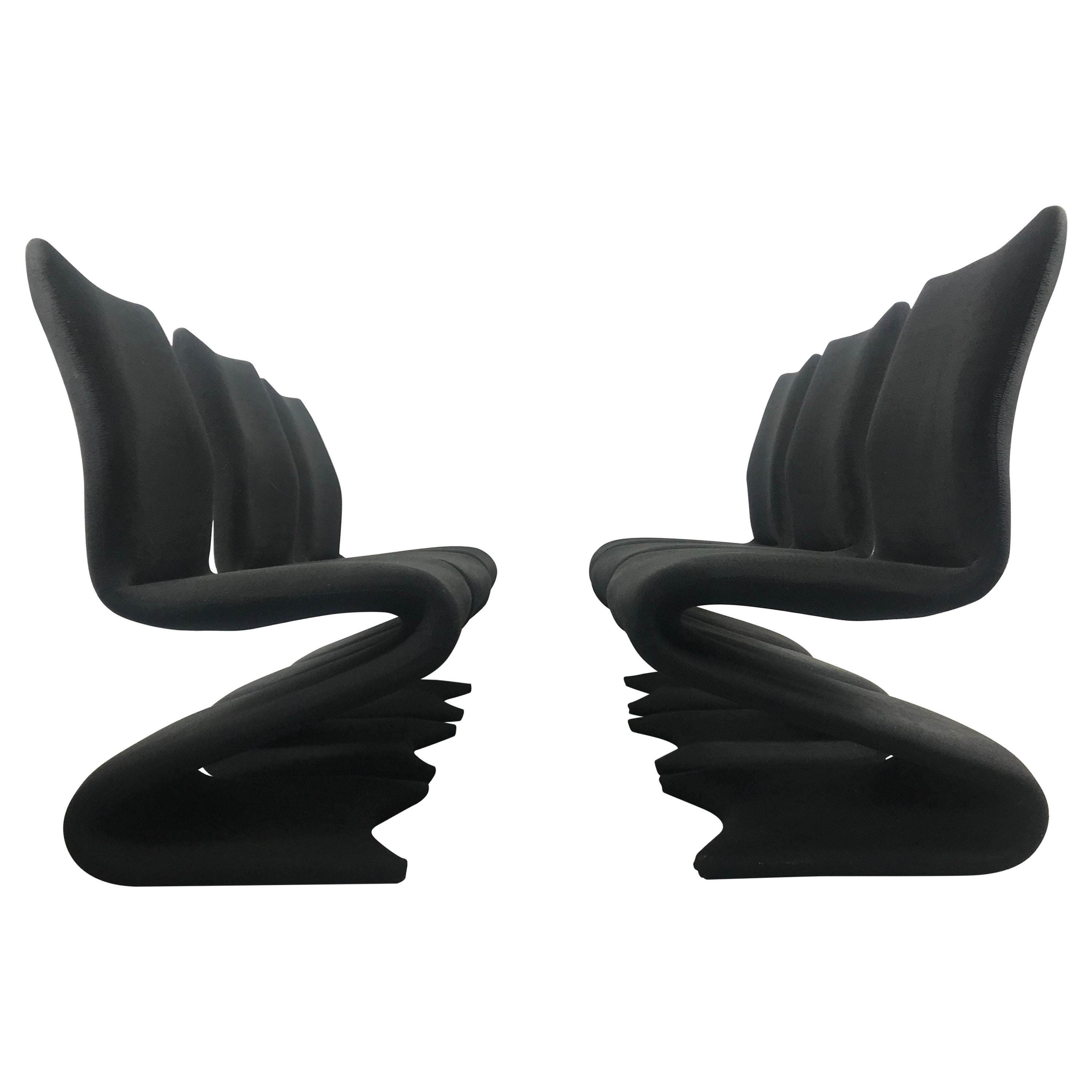 "Set 6 Pop Modern ""S"" Dining Chairs Attributed to Verner Panton Model 275 S"