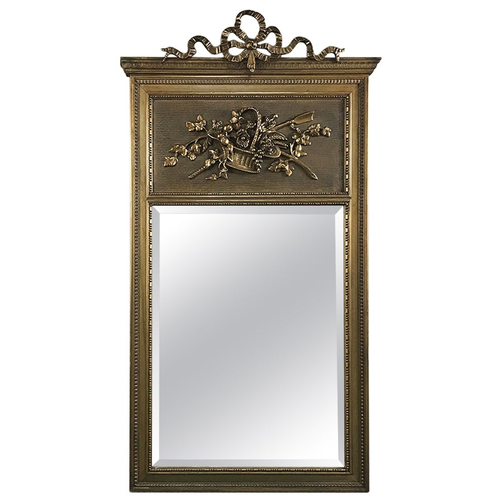 Trumeau Mirror, 19th Century French Louis XVI Gilded