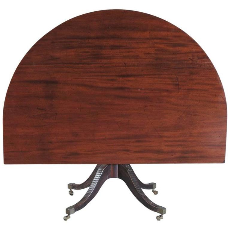 Georgian Three Pillar Dining Table