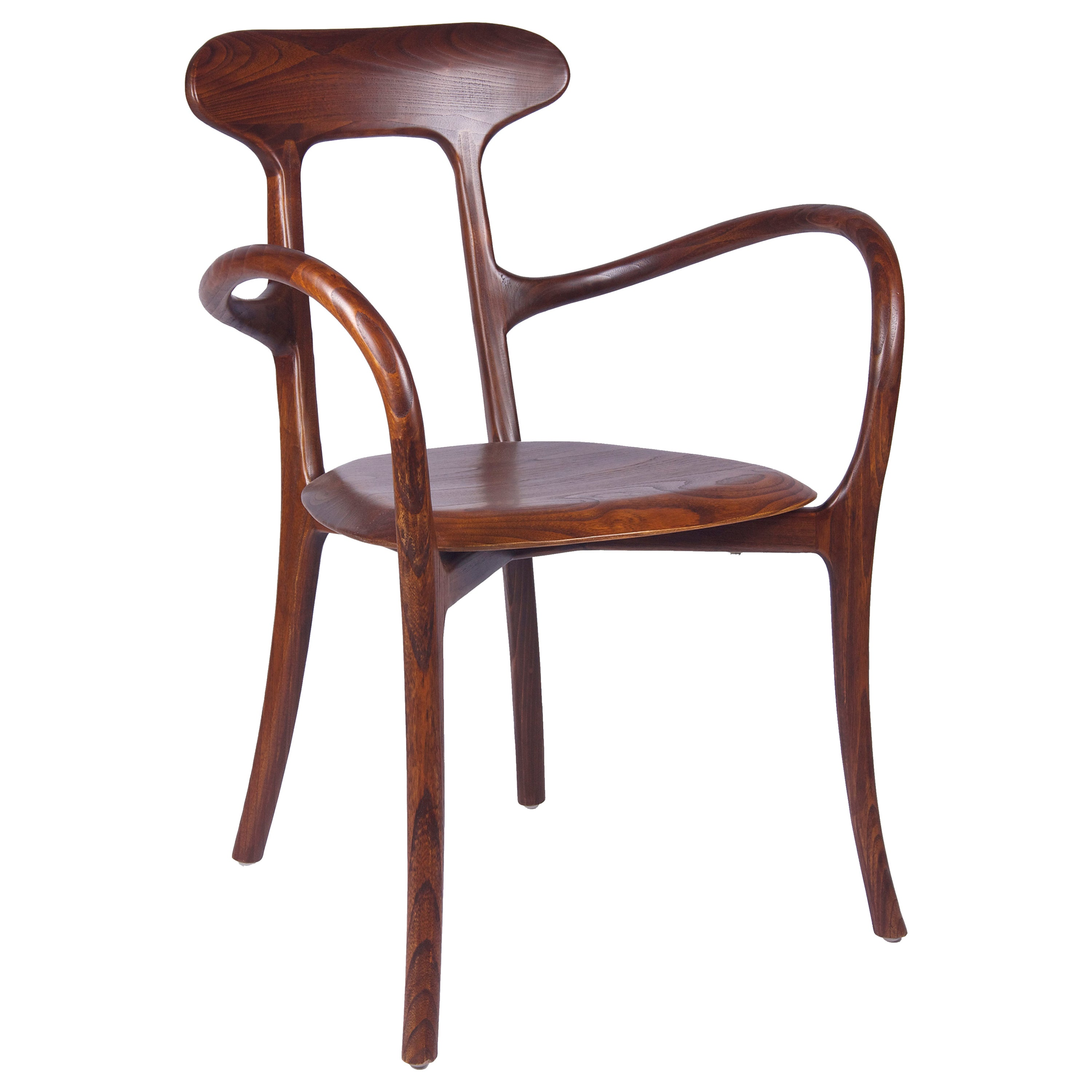 New Bentwood Armchair with Wood Seat and Back