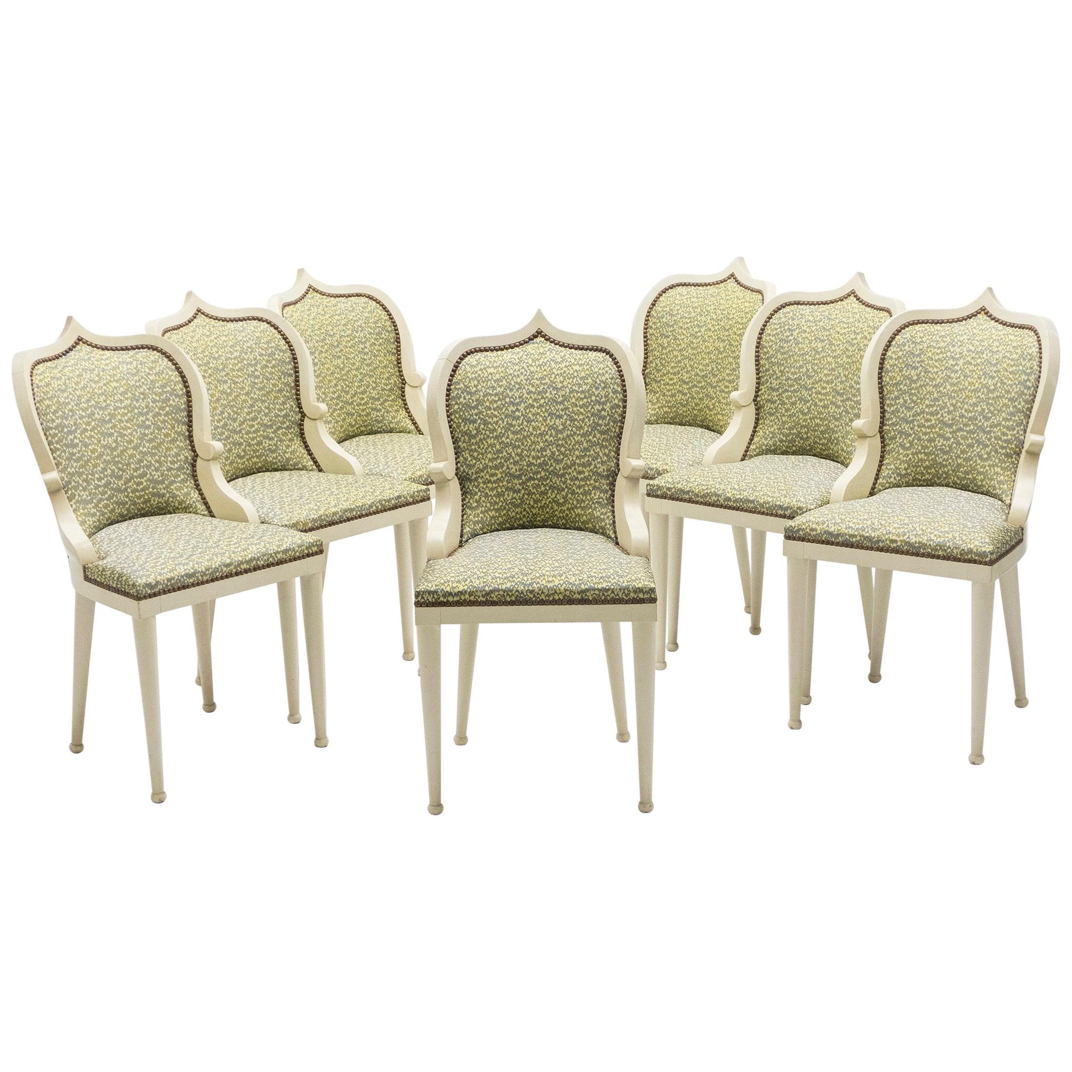 Unique, Set of 15, Garouste & Bonetti 'Palace' Dining Chairs, 1980