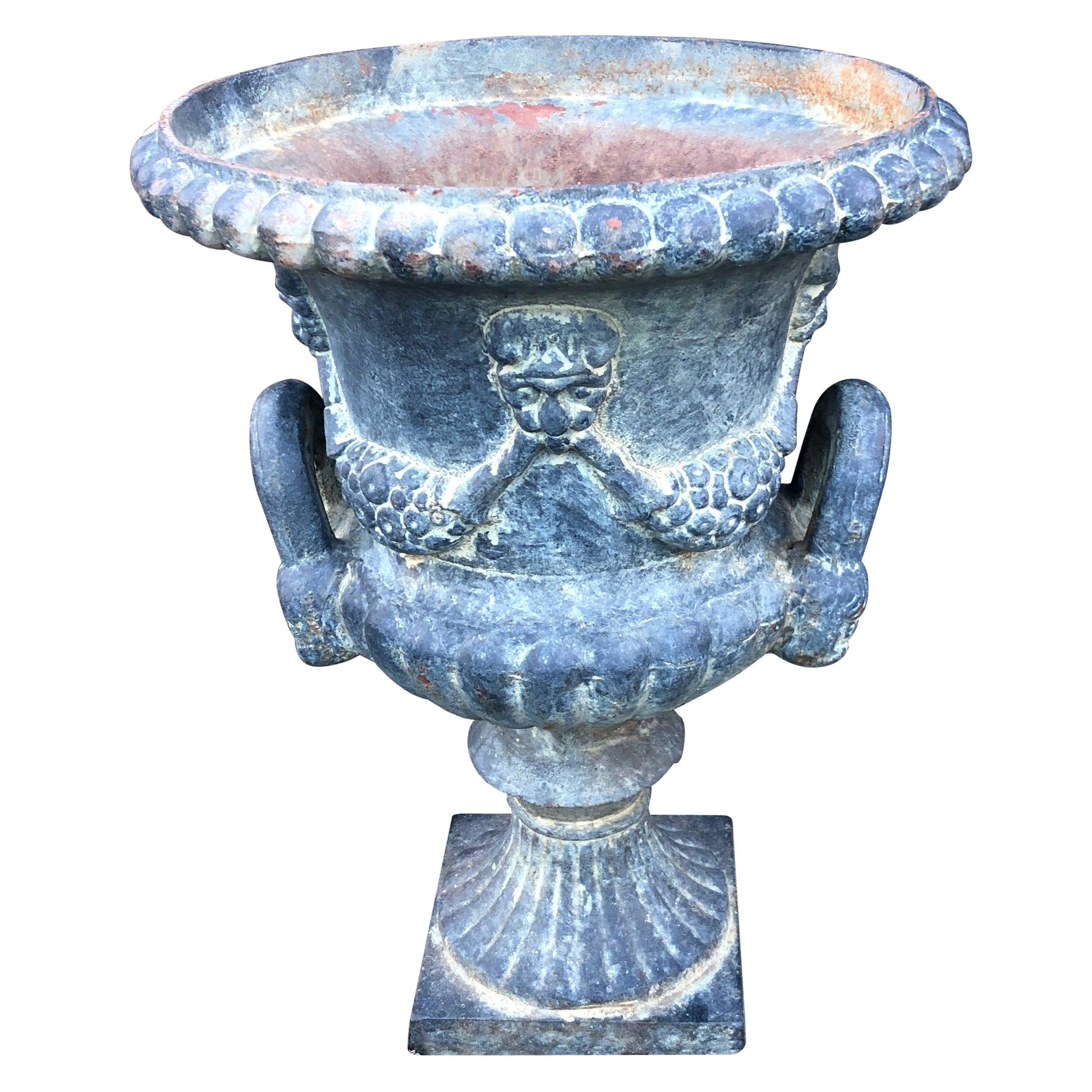 Louis XVI Style Century Cast Iron Urn