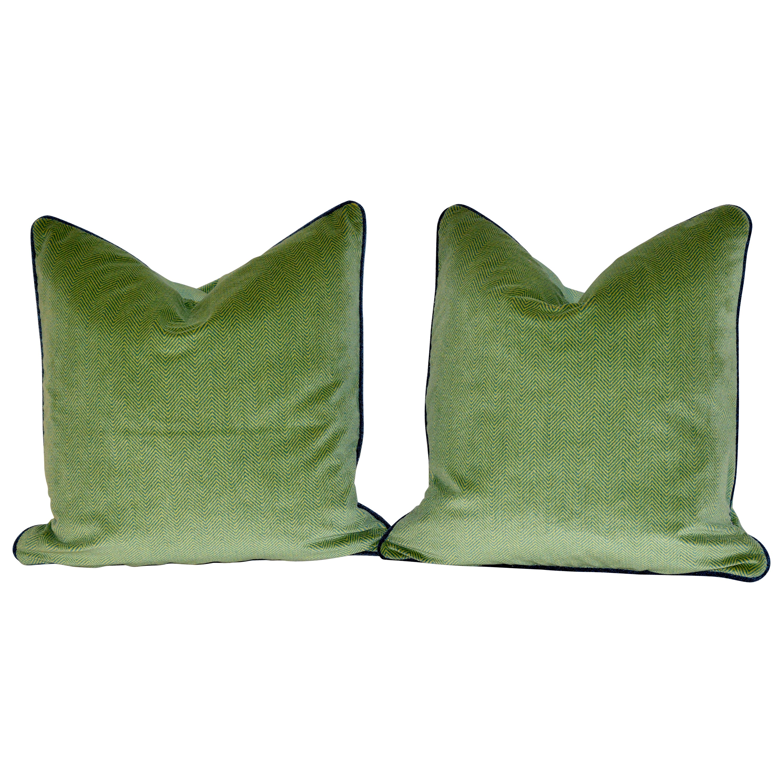 Handmade Velvet Herringbone Pillows