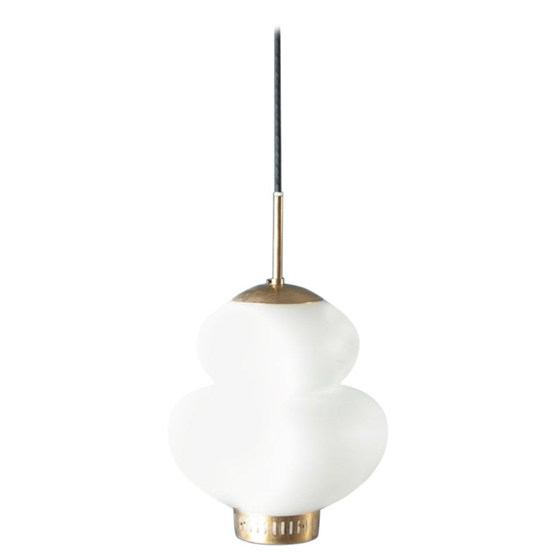 Midcentury Peanut Pendant by Bent Karlby, Danish Design from the 1950s