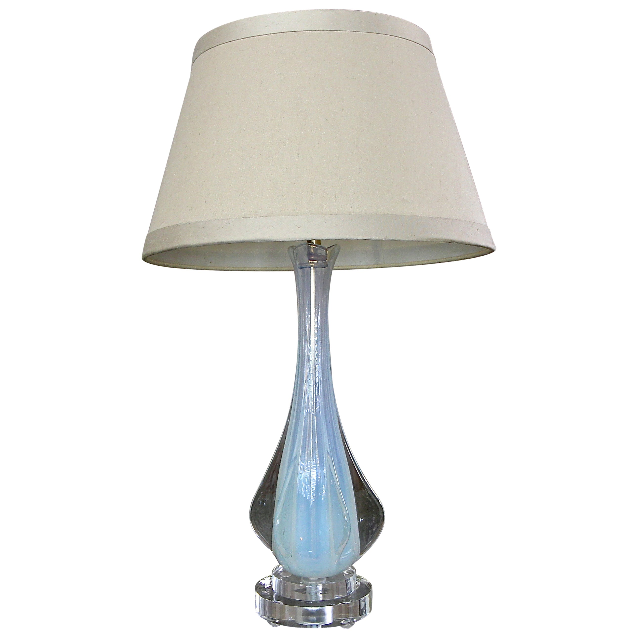 Italian Murano Glass Opalescent Table Lamp