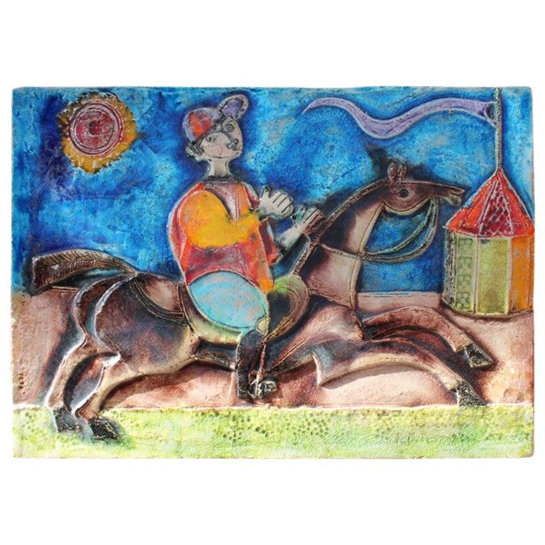 Large Ceramic Wall Panel Giovanni De Simone 1960 Sicilian Art Picasso