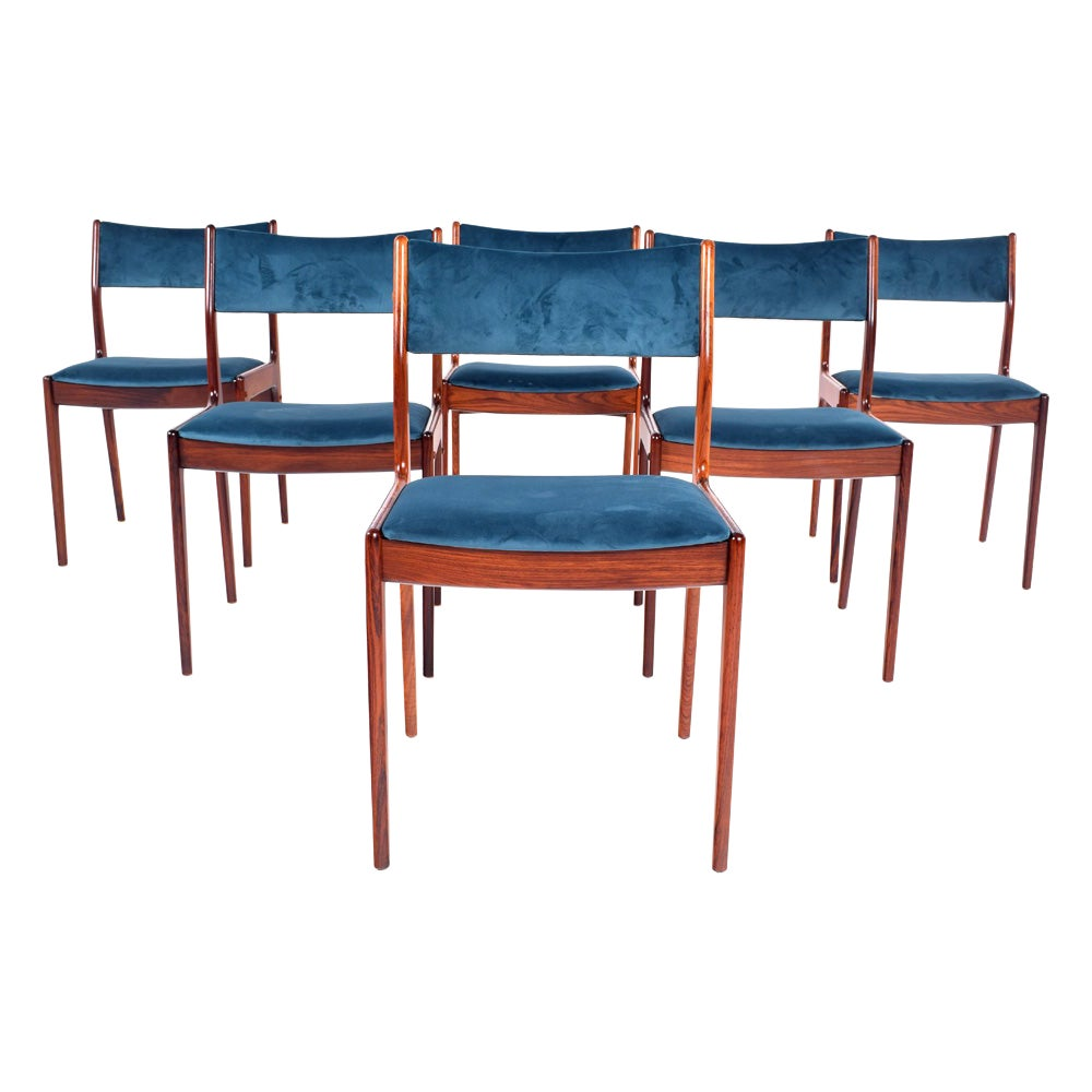 Rosewood Dining Chairs by Johannes Andersen for Uldum Møbelfabrik
