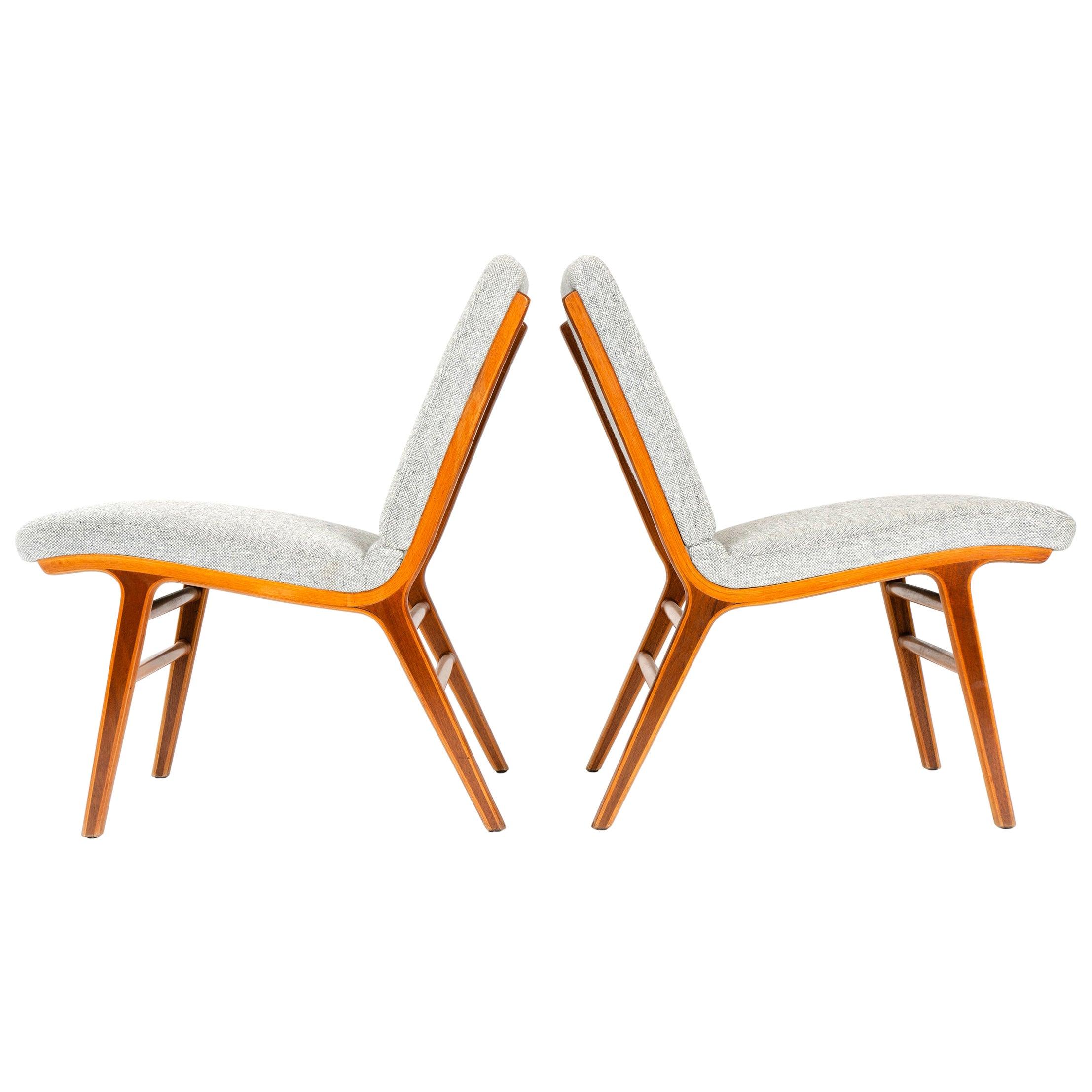 1950s Danish 'Ax' Chairs by Peter Hvidt & Orla Mölgaard-Nielsen for Fritz Hansen