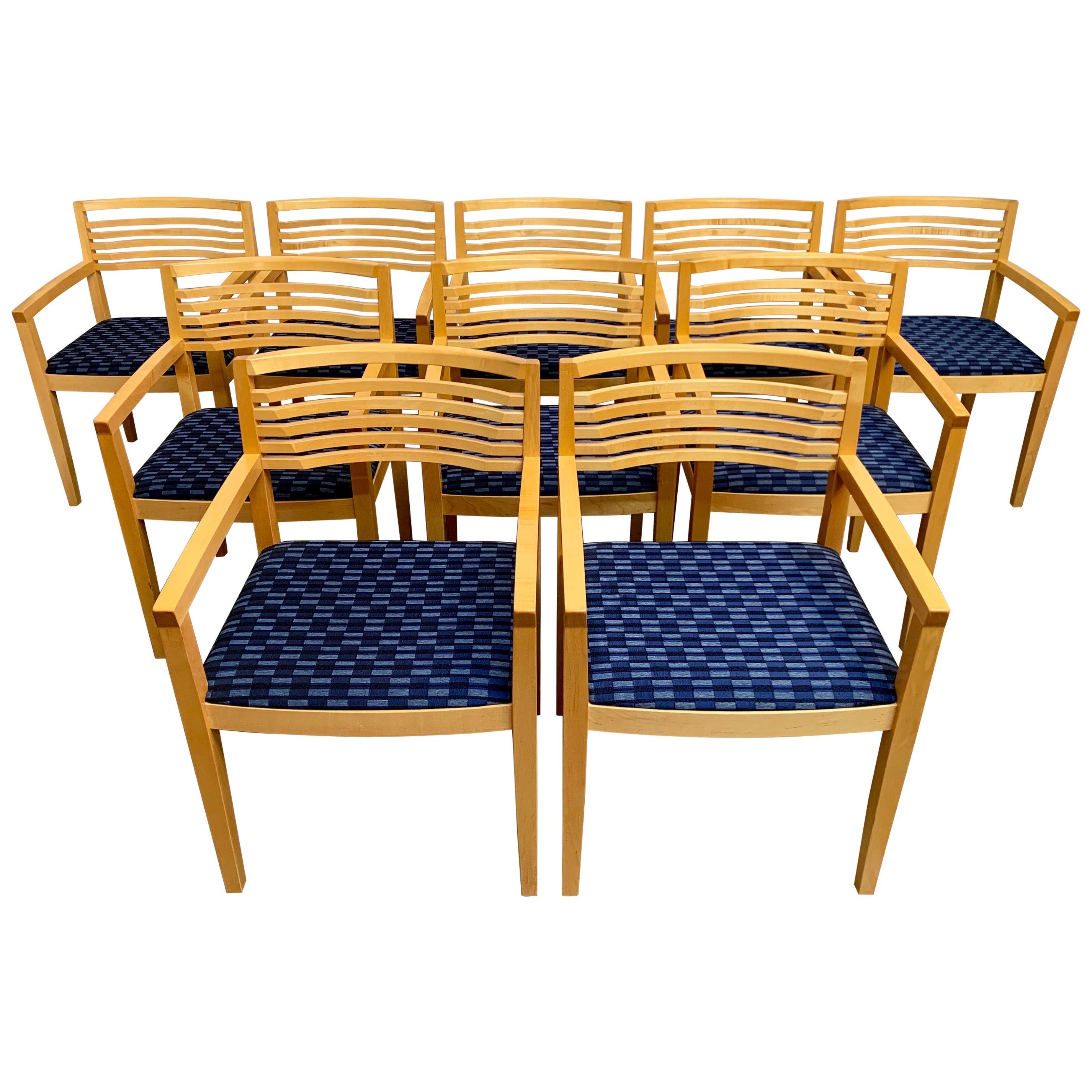 Set of Ten Knoll Studio Ricchio Chairs