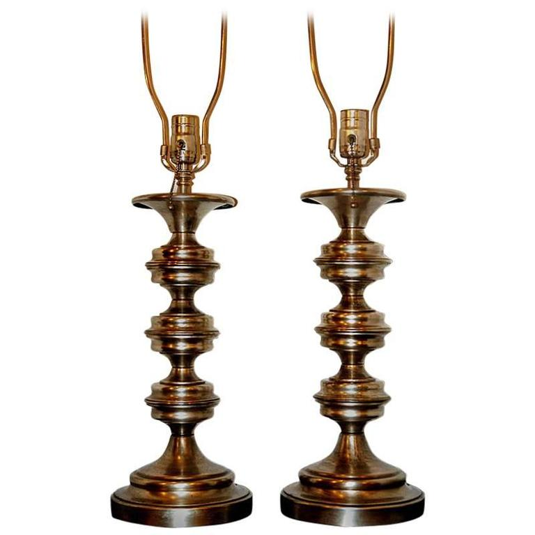Pair of Silver Plated Lamps