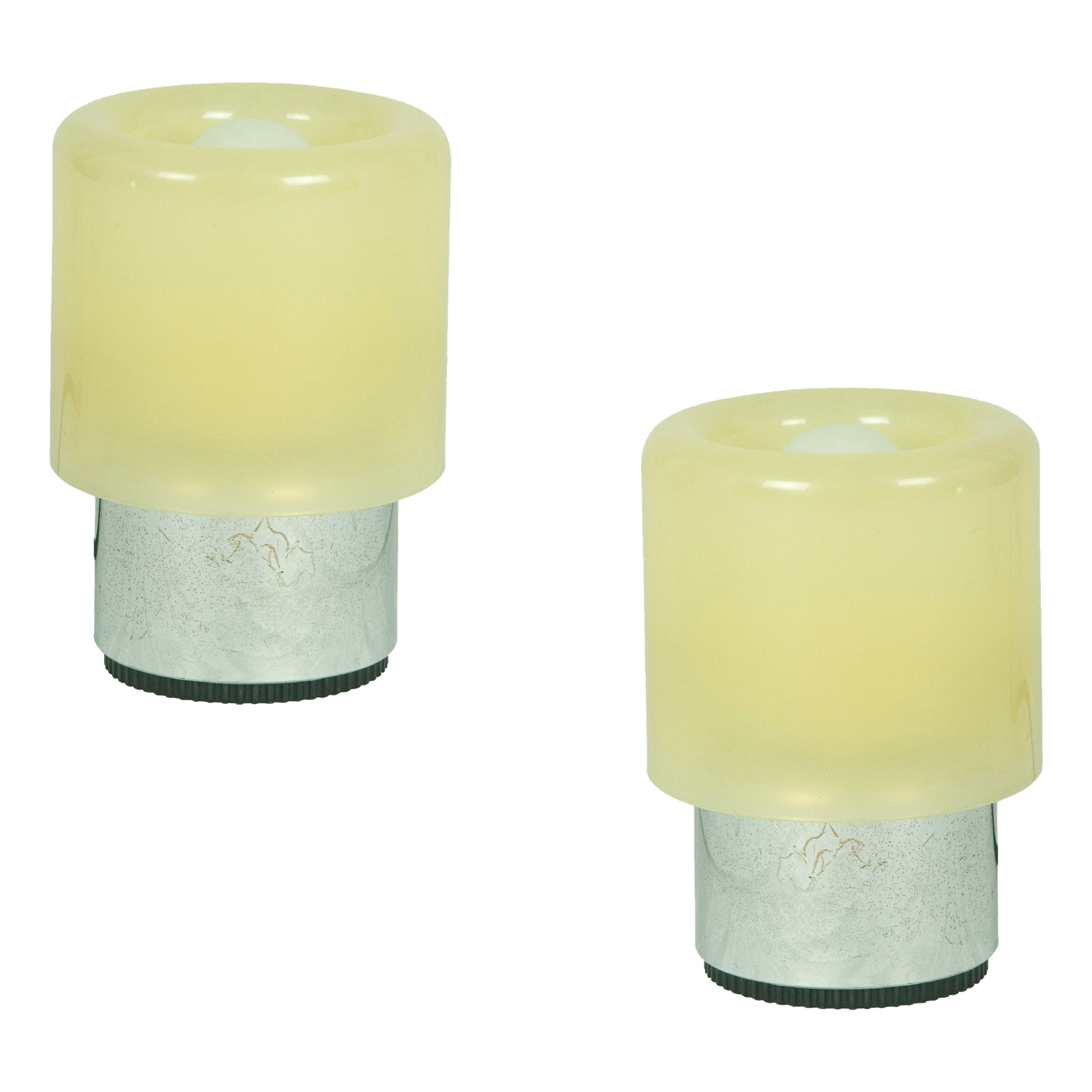 Pair of Vintage Plastic Tic Tac Table Lamps by Giotto Stoppino for Kartell, 1971
