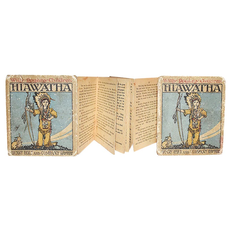 Early Panorama Children's Book Hiawatha Illustrated by Willy Pogany London 1914