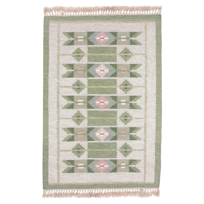 Swedish Rolakan Carpet Handwoven Wool