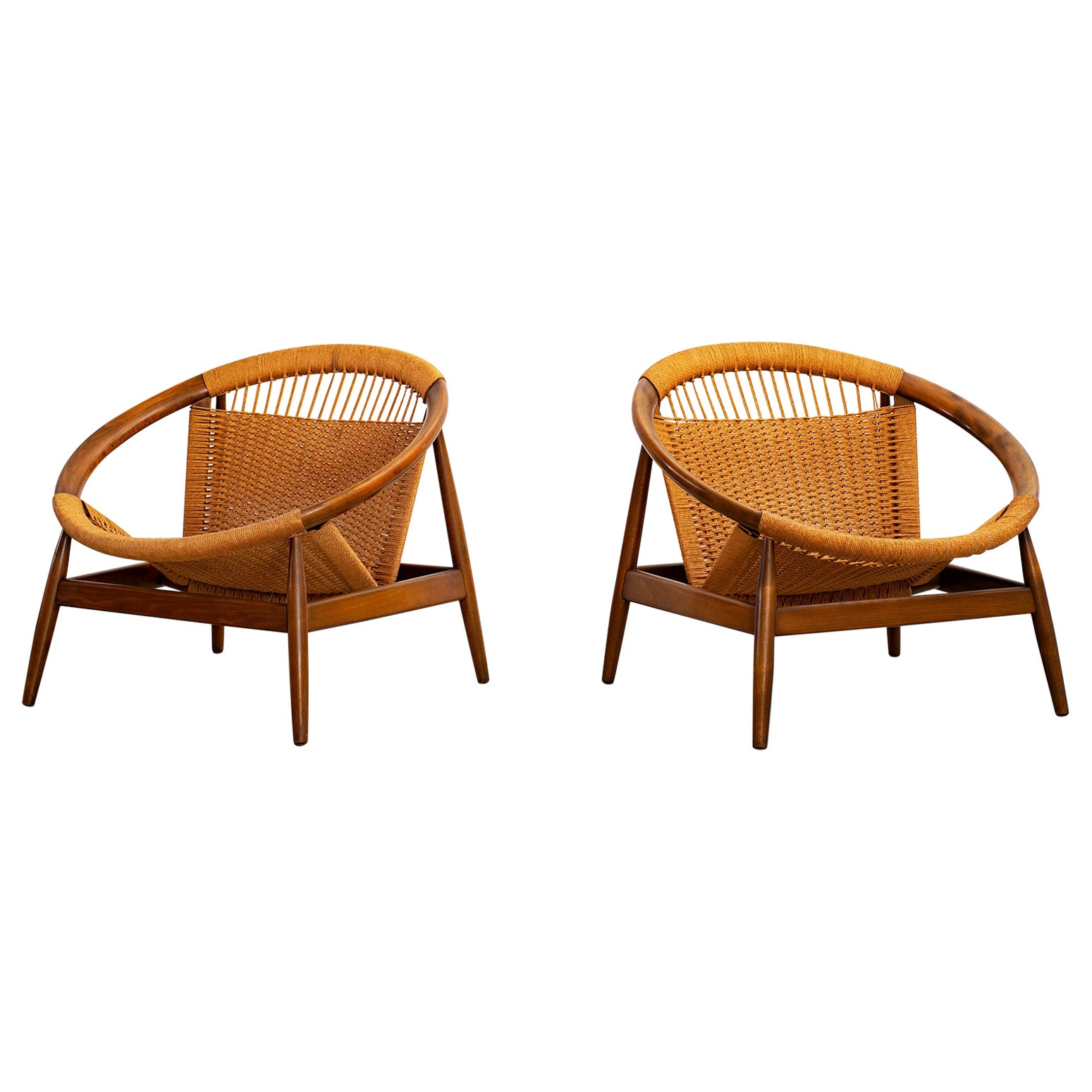 "Illum Wikkelso ""Ringstol"" Lounge Chairs"