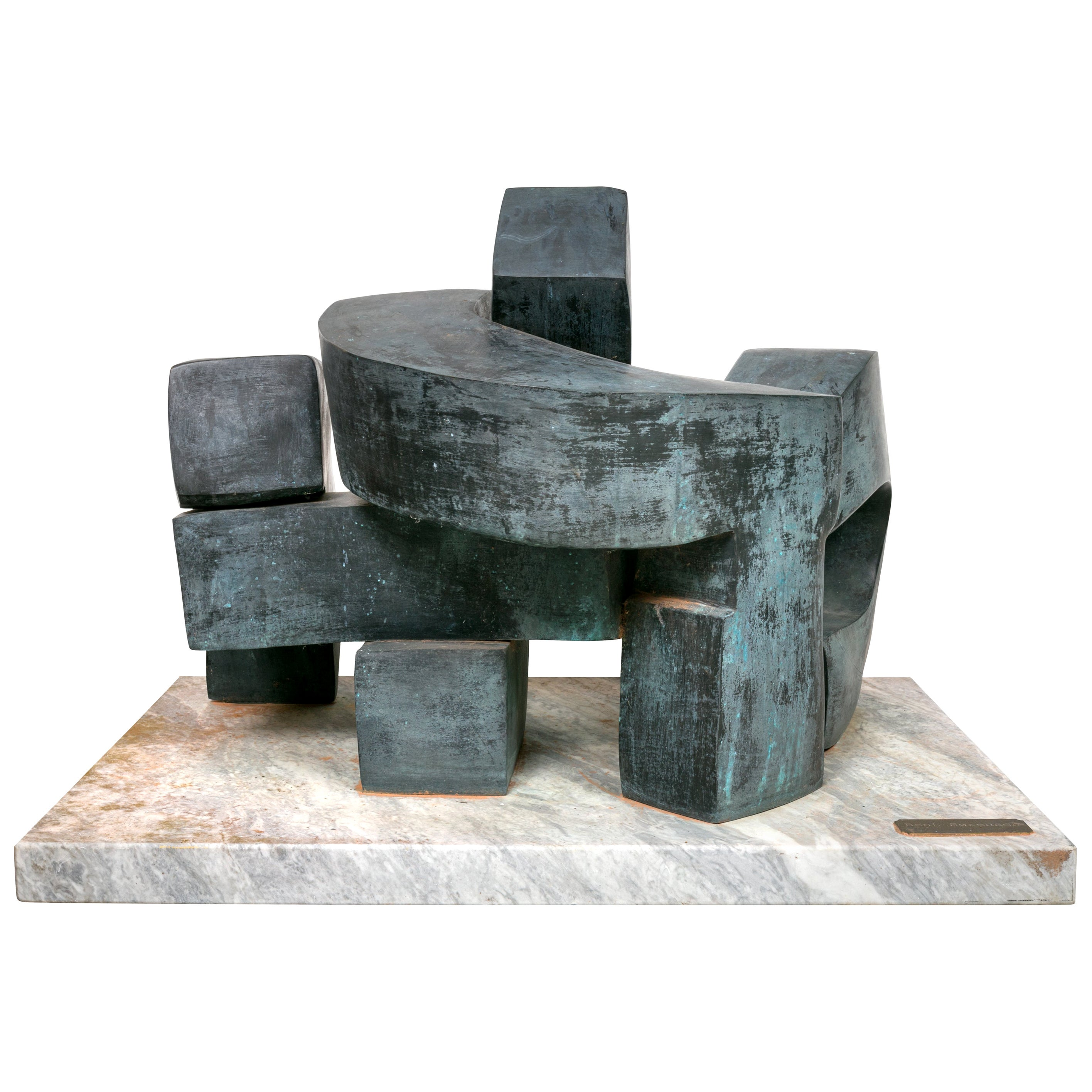 Bent Sorensen Bronze Abstract Sculpture, Denmark 1970s